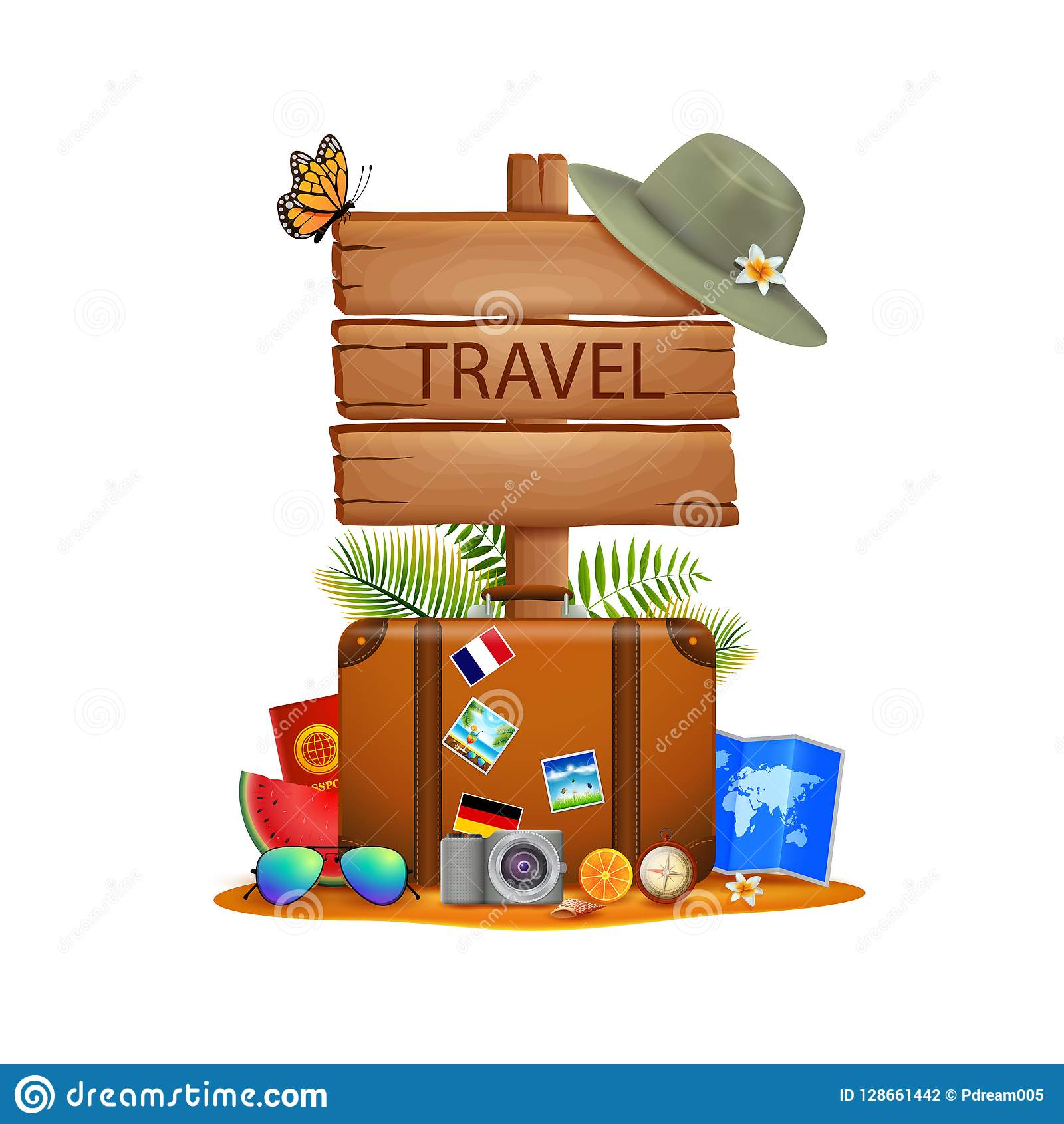 Illustration de fond de voyage