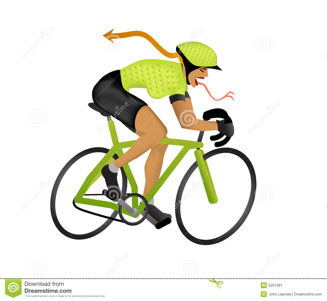 Illustration de girlzilla de cycliste image stock image - Cycliste dessin ...