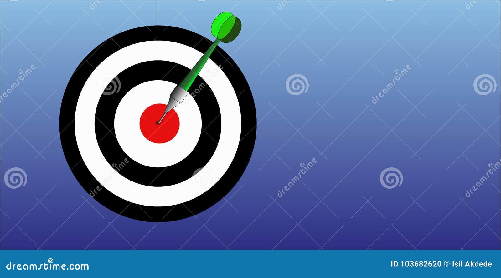 Illustration de jeu de dard