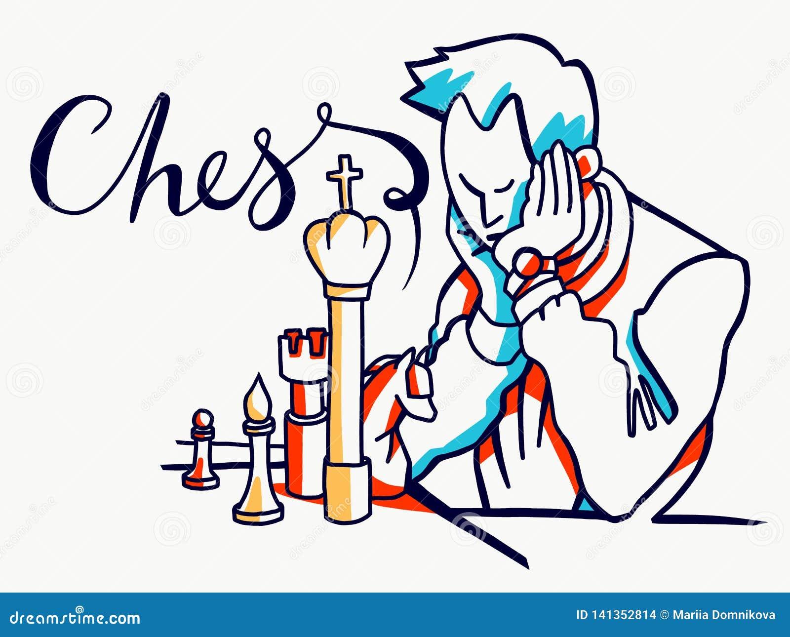 Illustration de joueurs d échecs