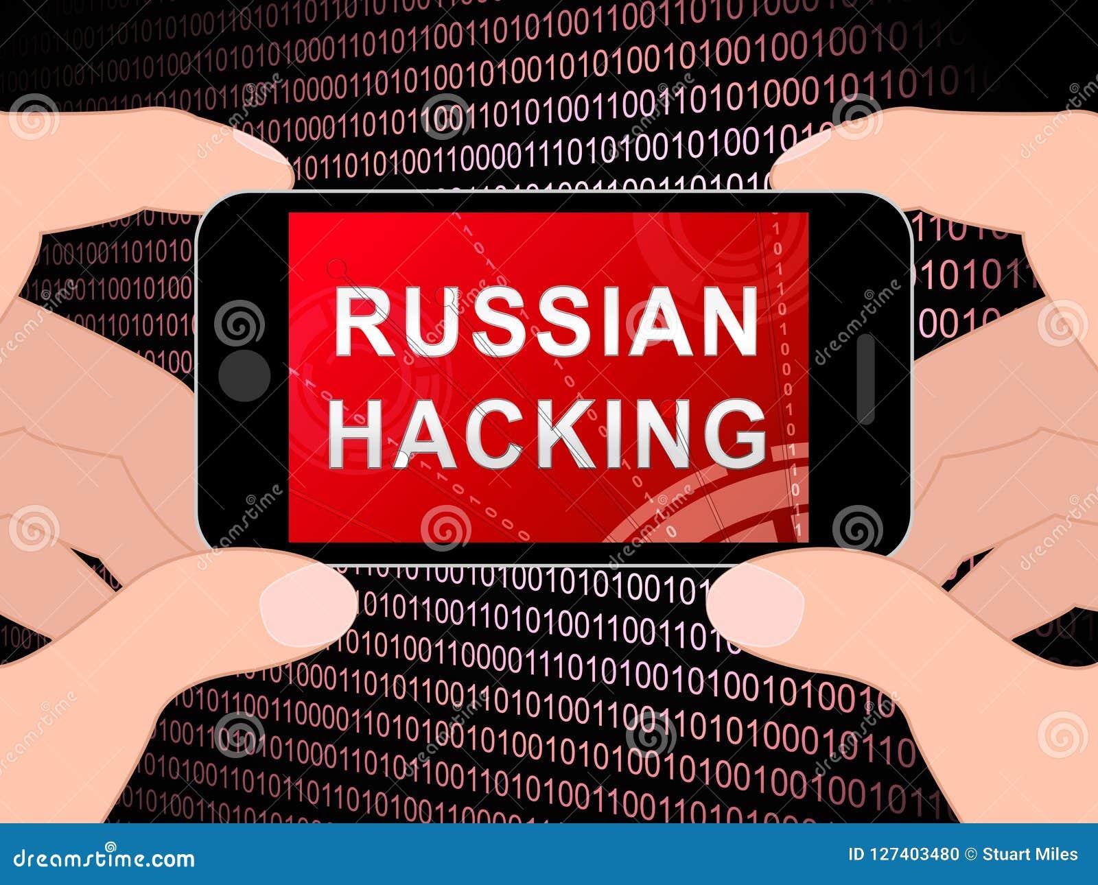 Illustration de l alerte 3d d espionnage de Web de pirate informatique de téléphone