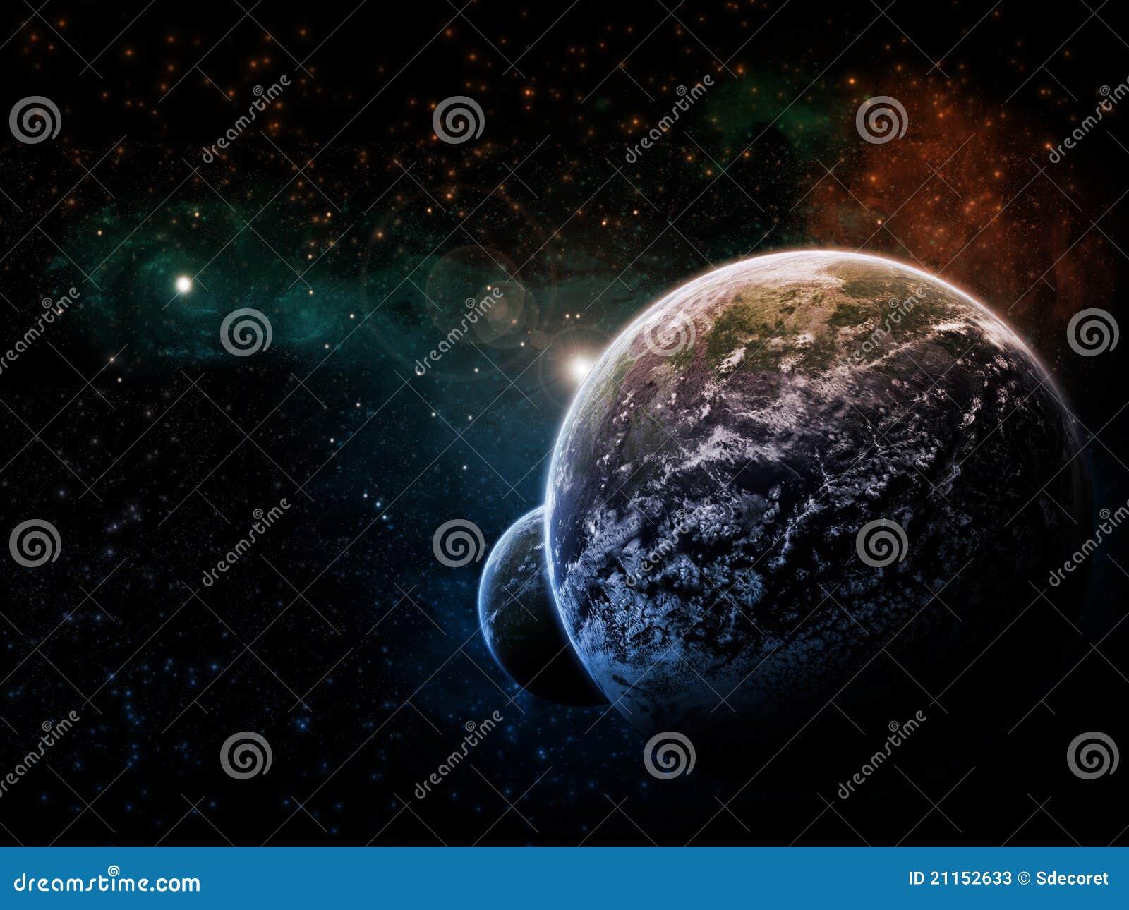 Illustration de l espace de planète