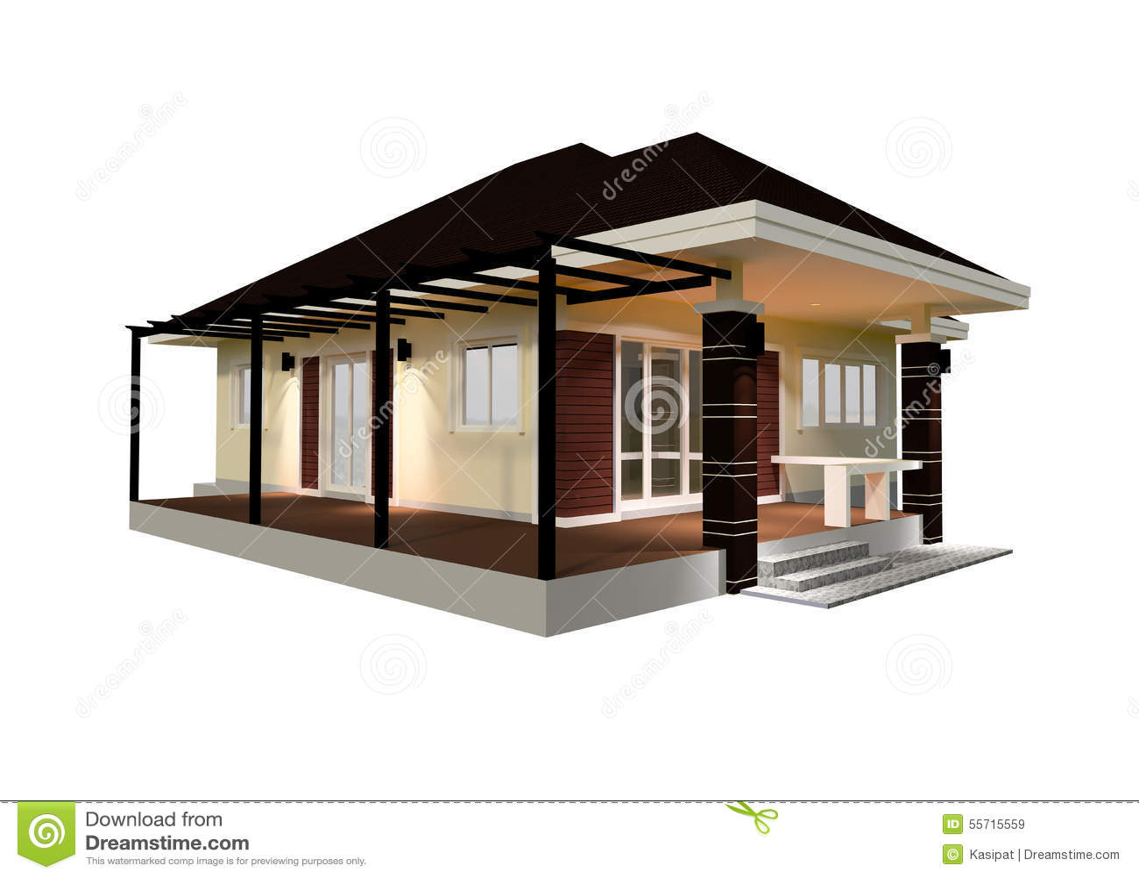 illustration de la chambre 3d de plan - Dessin Chambre 3d