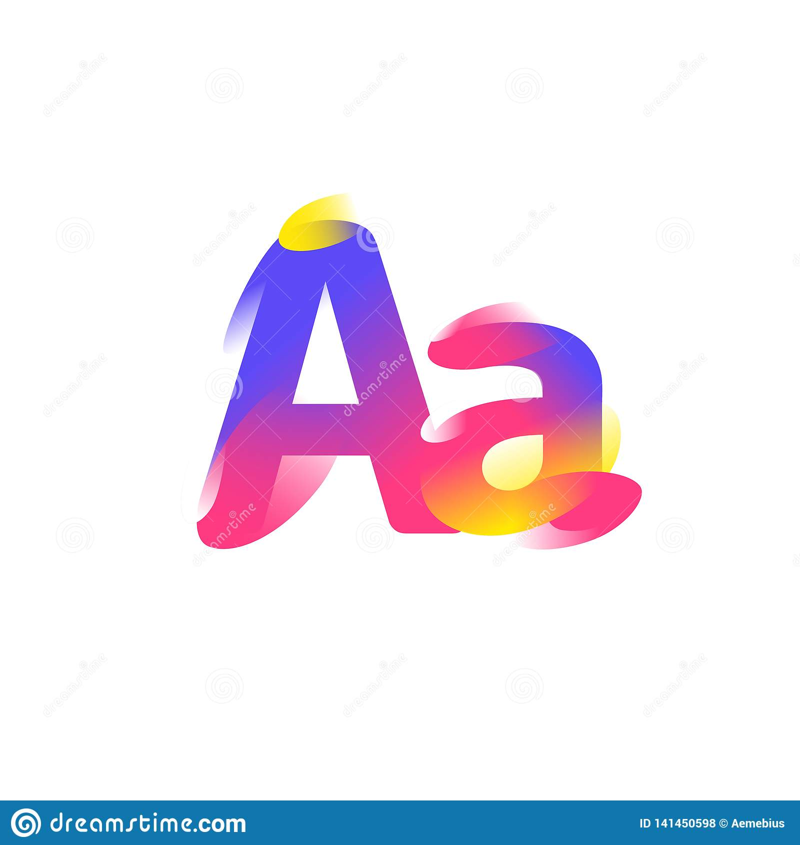 Illustration de la lettre A Icône plate de gradient Lettre de l alphabet Illustration de vecteur Un logo à la mode moderne de soc