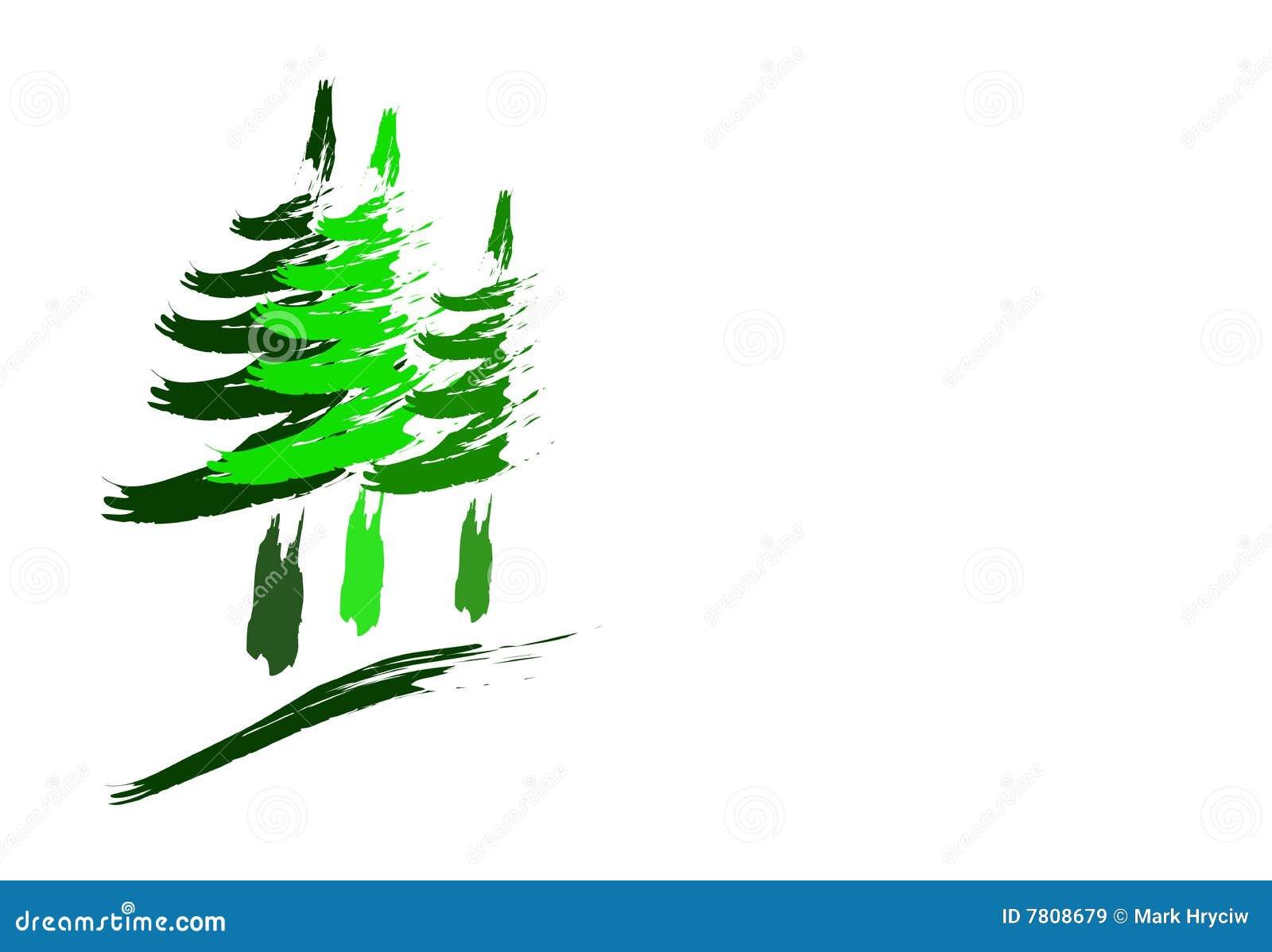 Illustration de logo de forêt