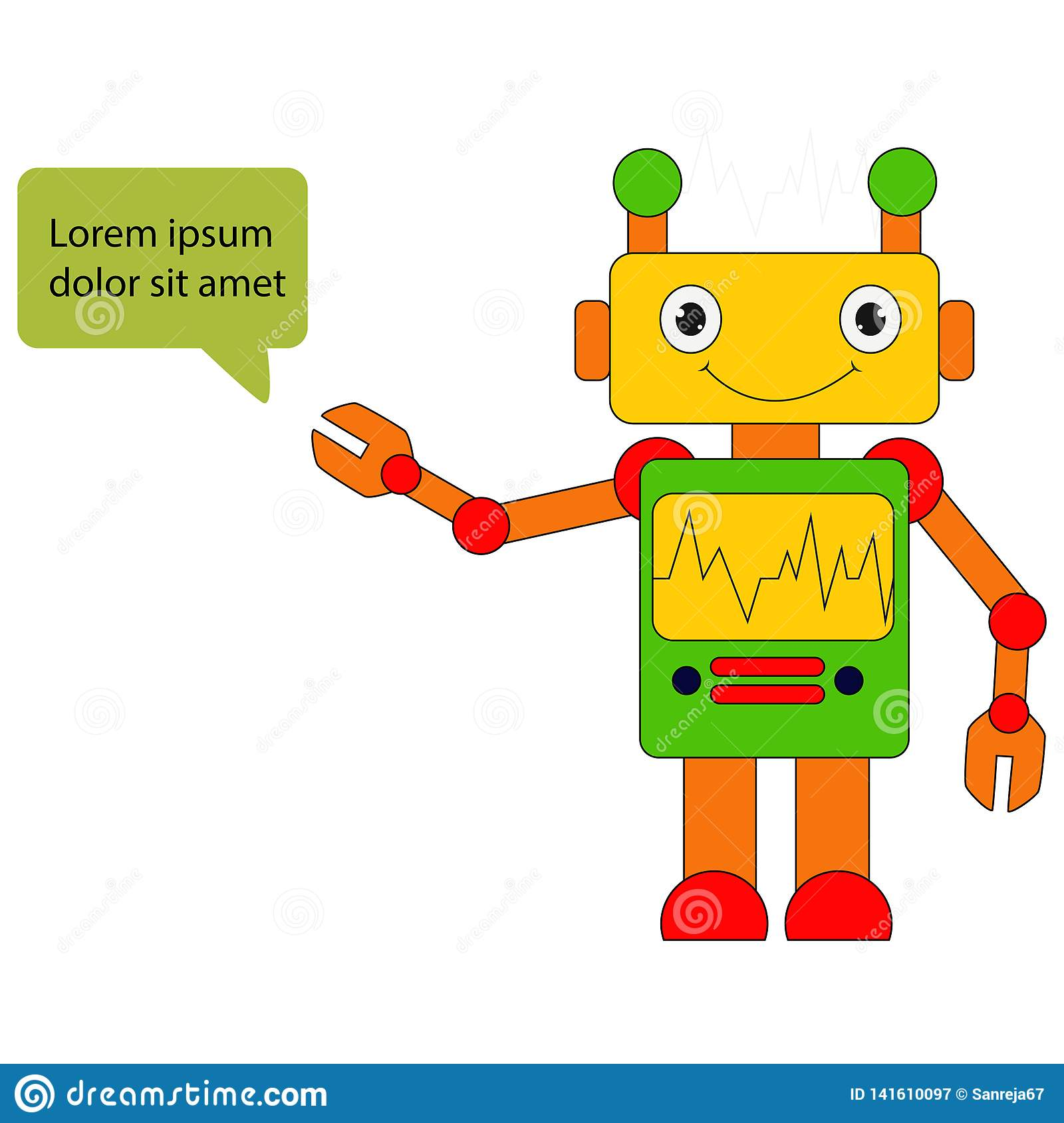 Illustration de mascotte de robot
