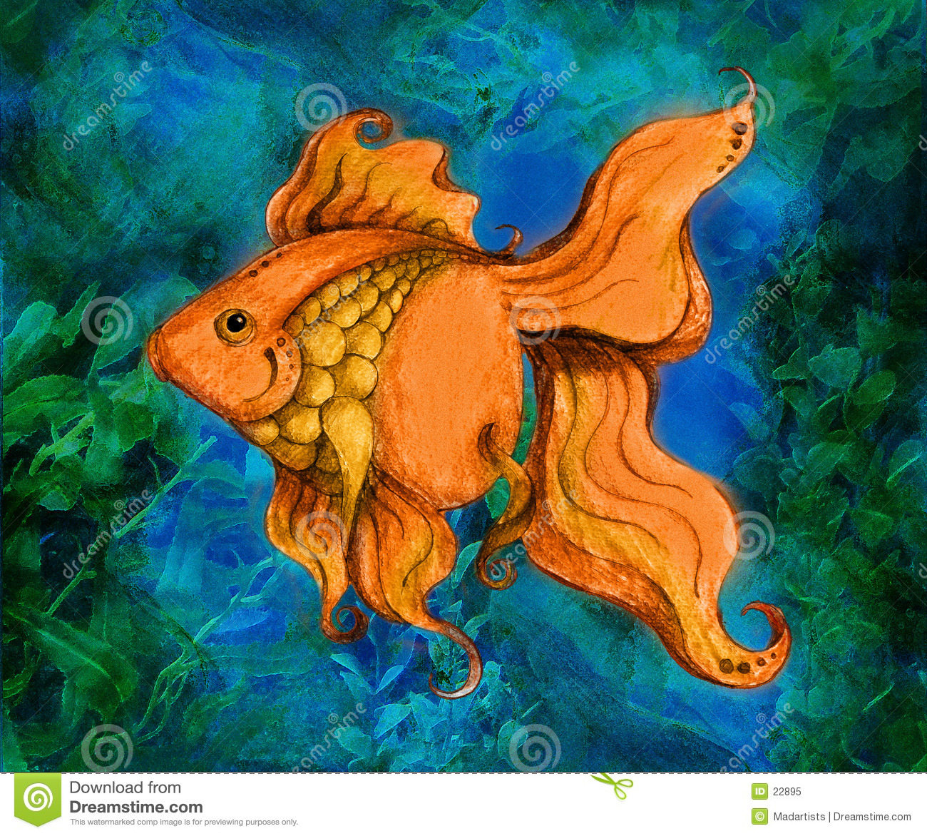 Illustration de natation de Goldfish