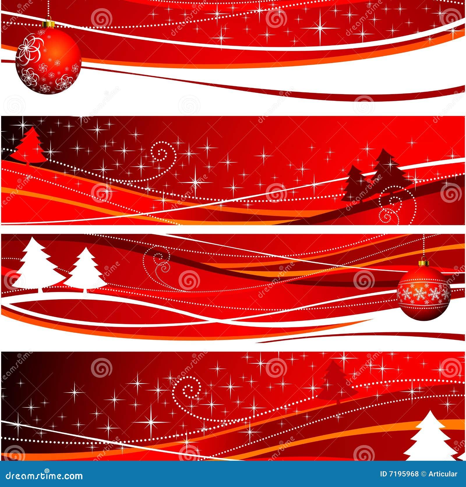 Illustration de Noël quatre de drapeau