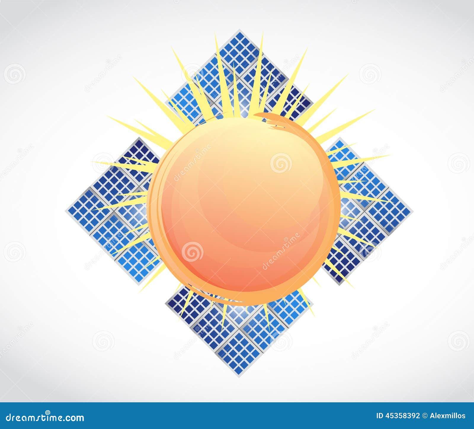 Illustration de panneaux solaires de Sun