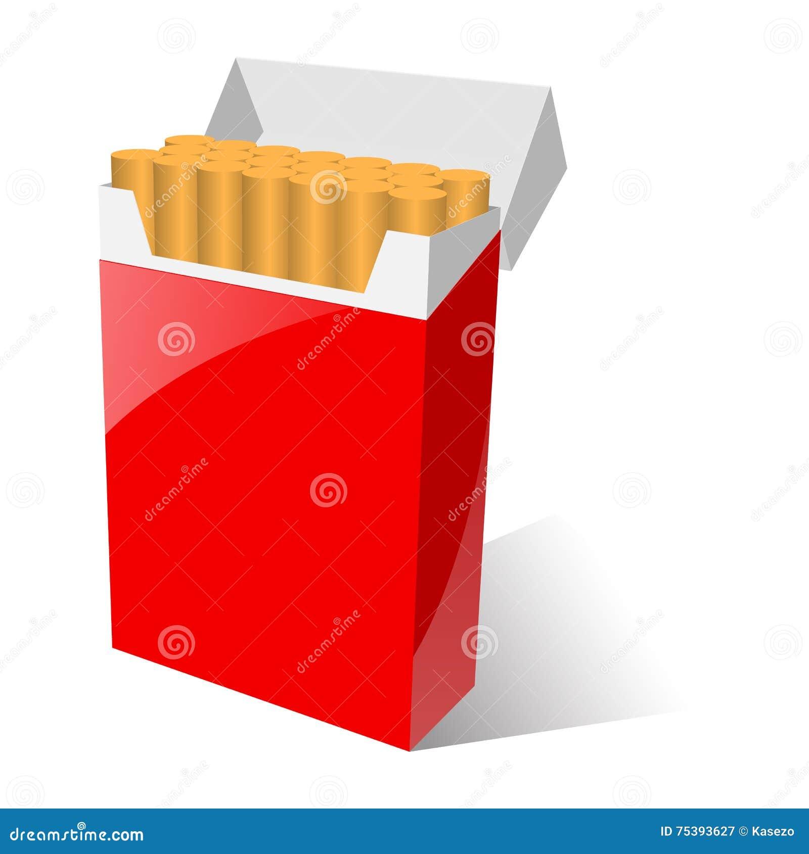 Dessin Paquet De Cigarette illustration de paquet rouge de cigarette illustration de vecteur