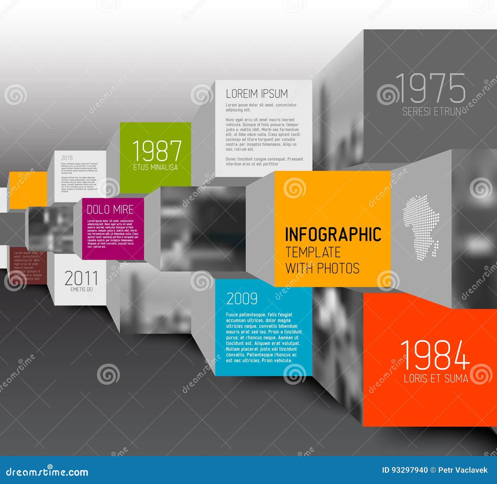 Illustration de places et de cubes de vecteur/infographic