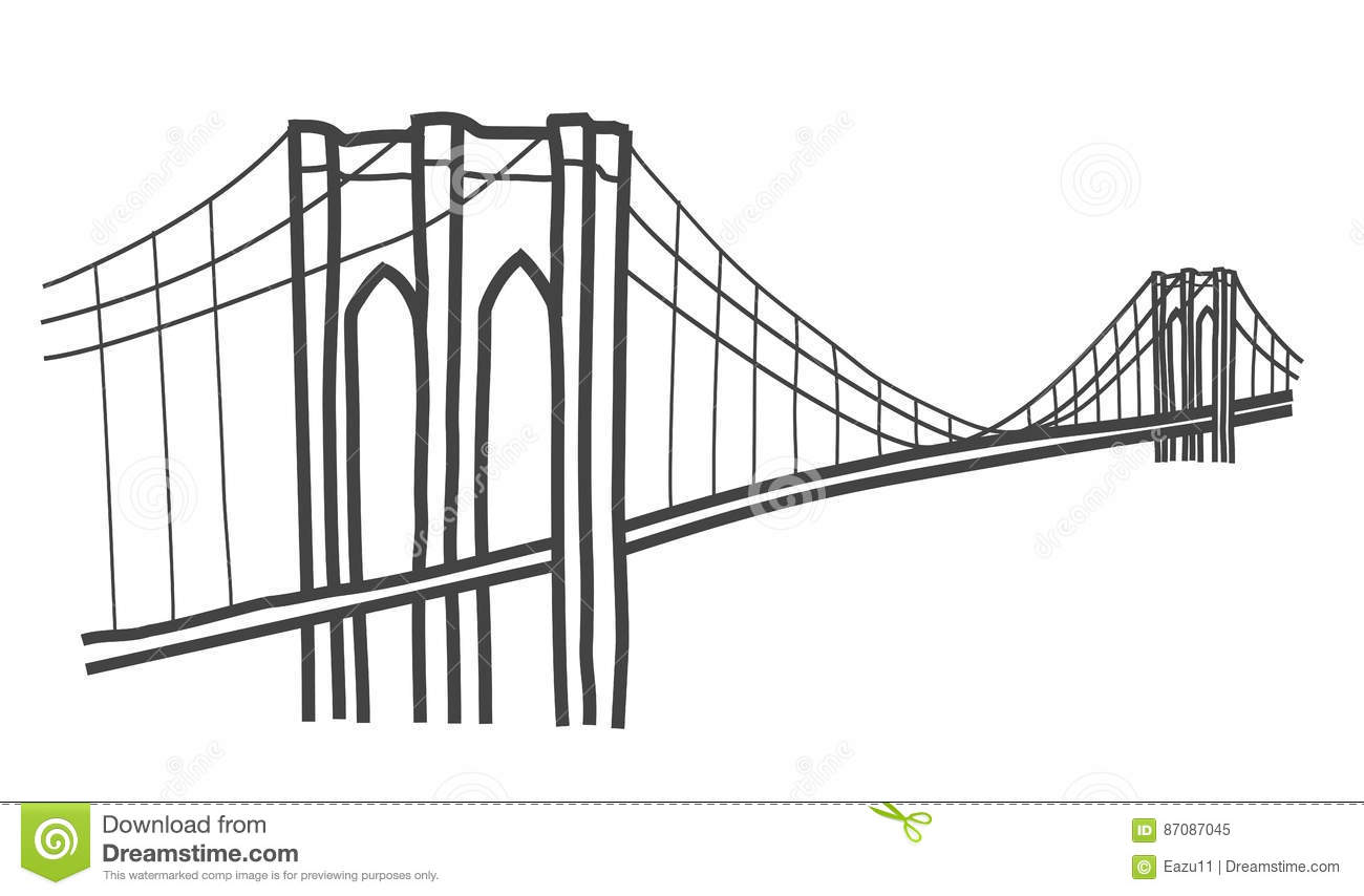 illustration de pont de brooklyn  new york illustration