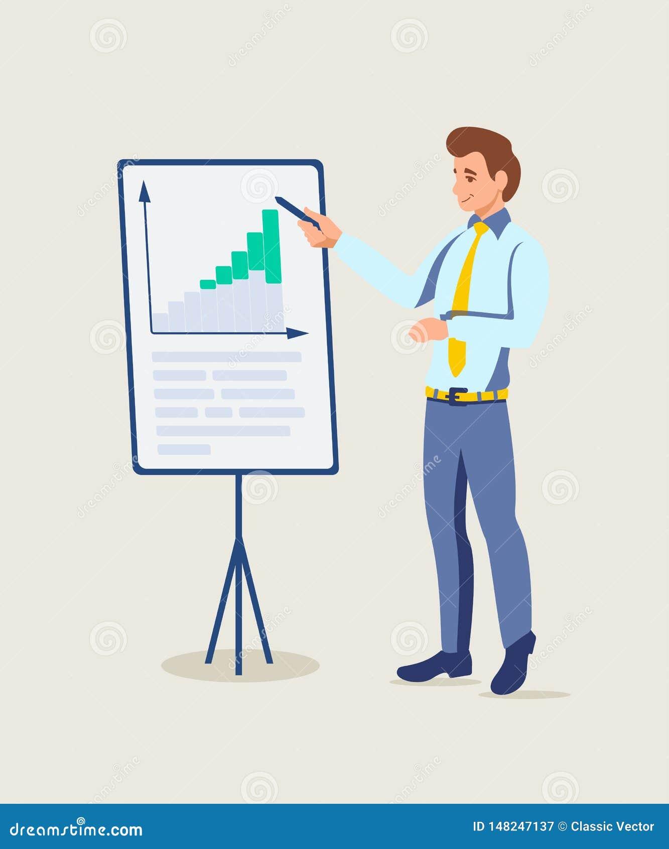 Illustration de présentation d entraîneur d affaires