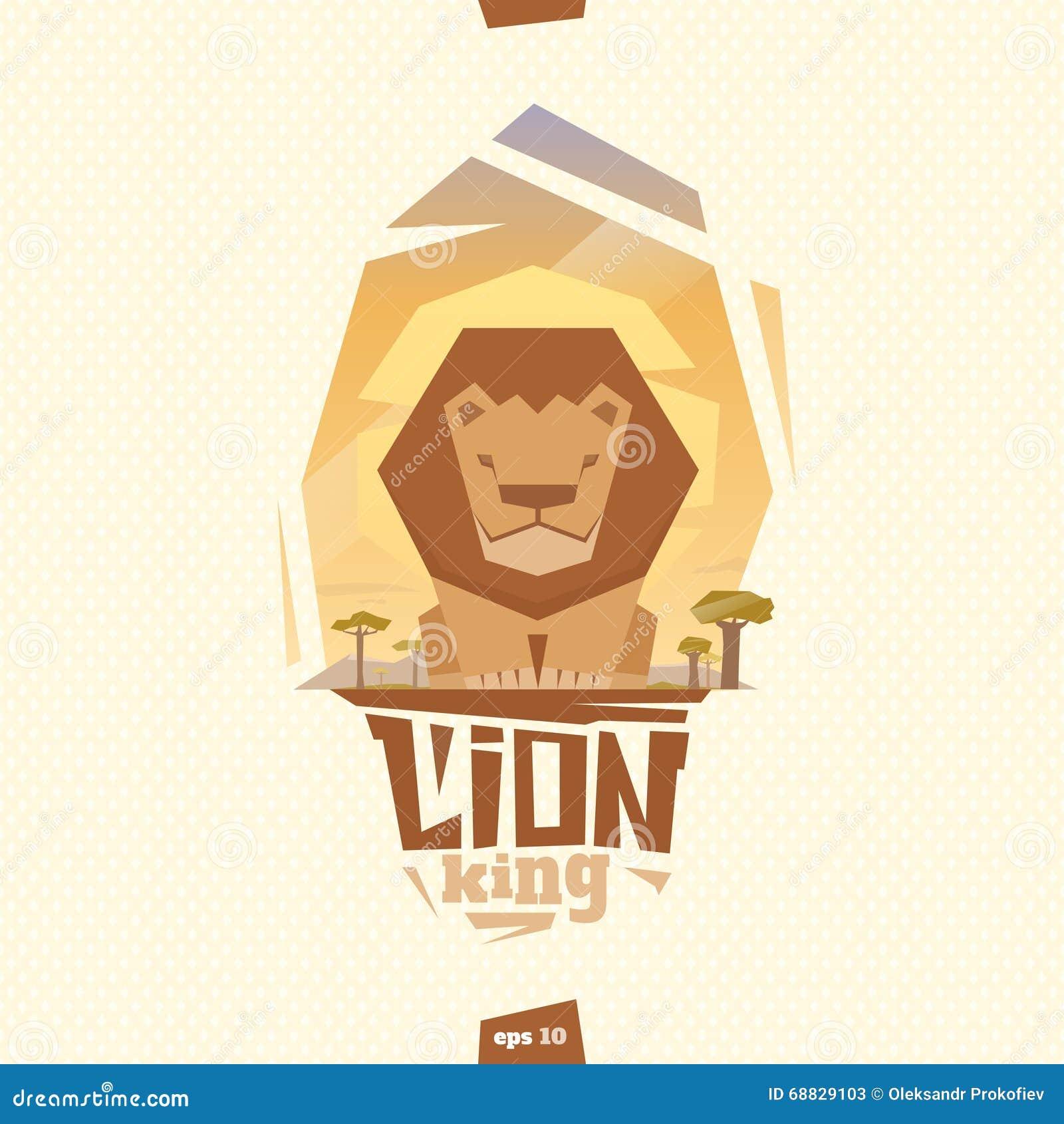 Illustration de roi de lion