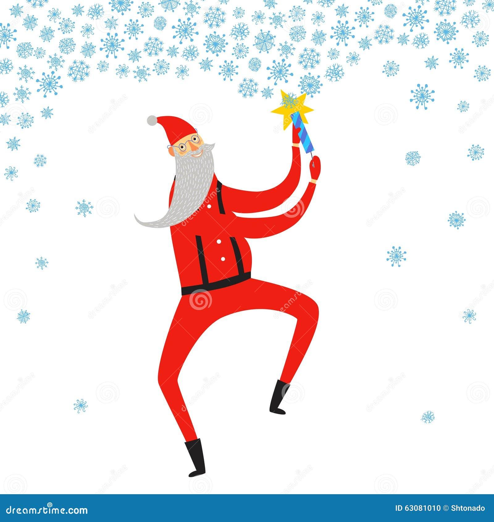 Download Illustration De Santa Claus De Danse Illustration Stock - Illustration du joyeux, décembre: 63081010
