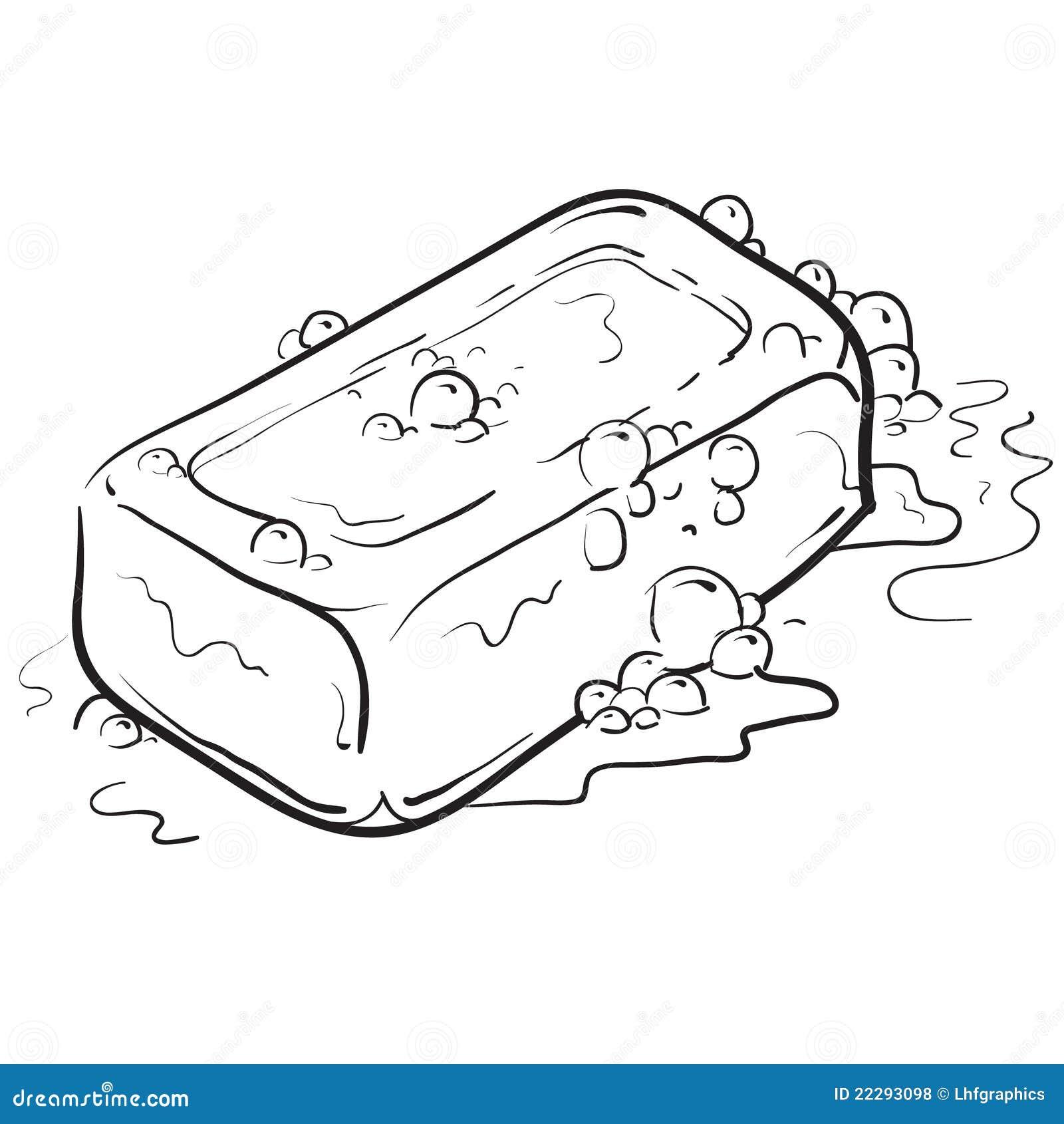 Illustration de savon et de bulles
