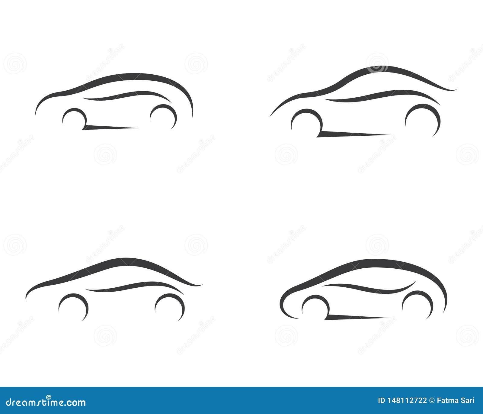 Illustration de symbole de voiture