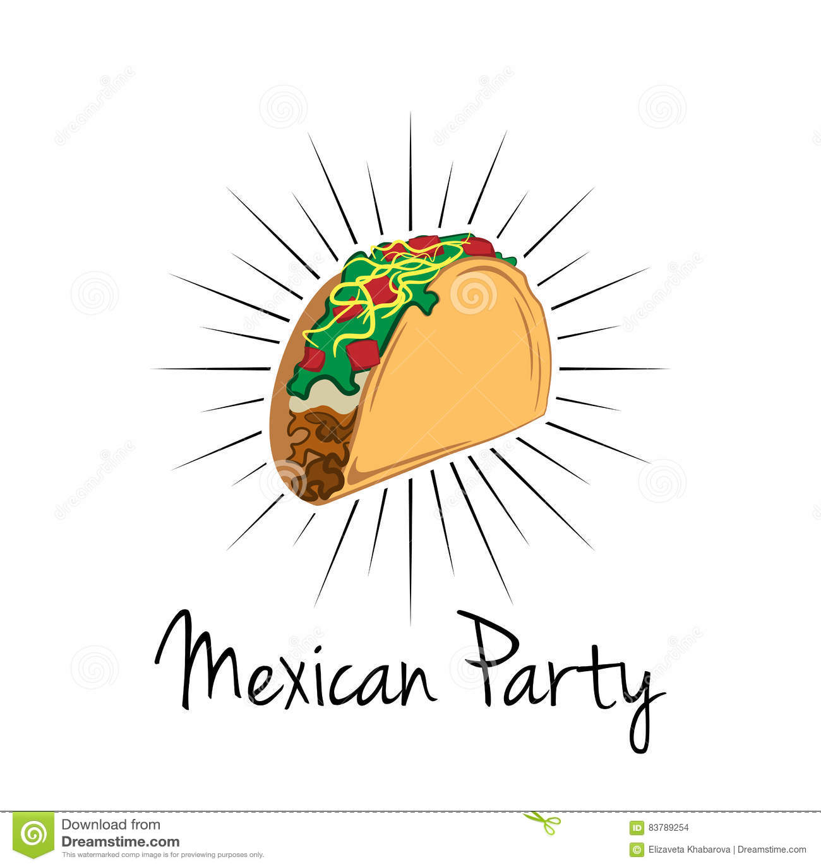 Illustration de taco sur le fond blanc nourriture du mexique cuisine mexicaine traditionnelle - Cuisine mexicaine traditionnelle ...