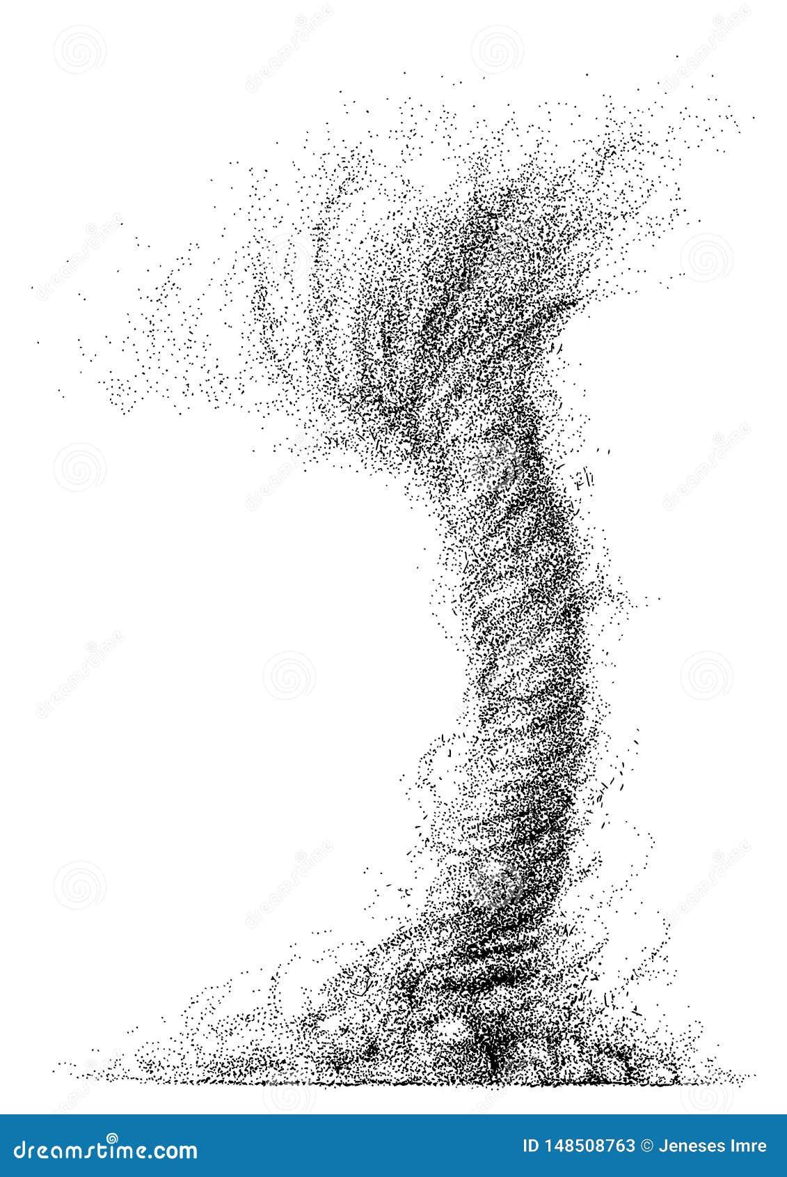Illustration De Tornade Dessin Gravure Encre Schéma