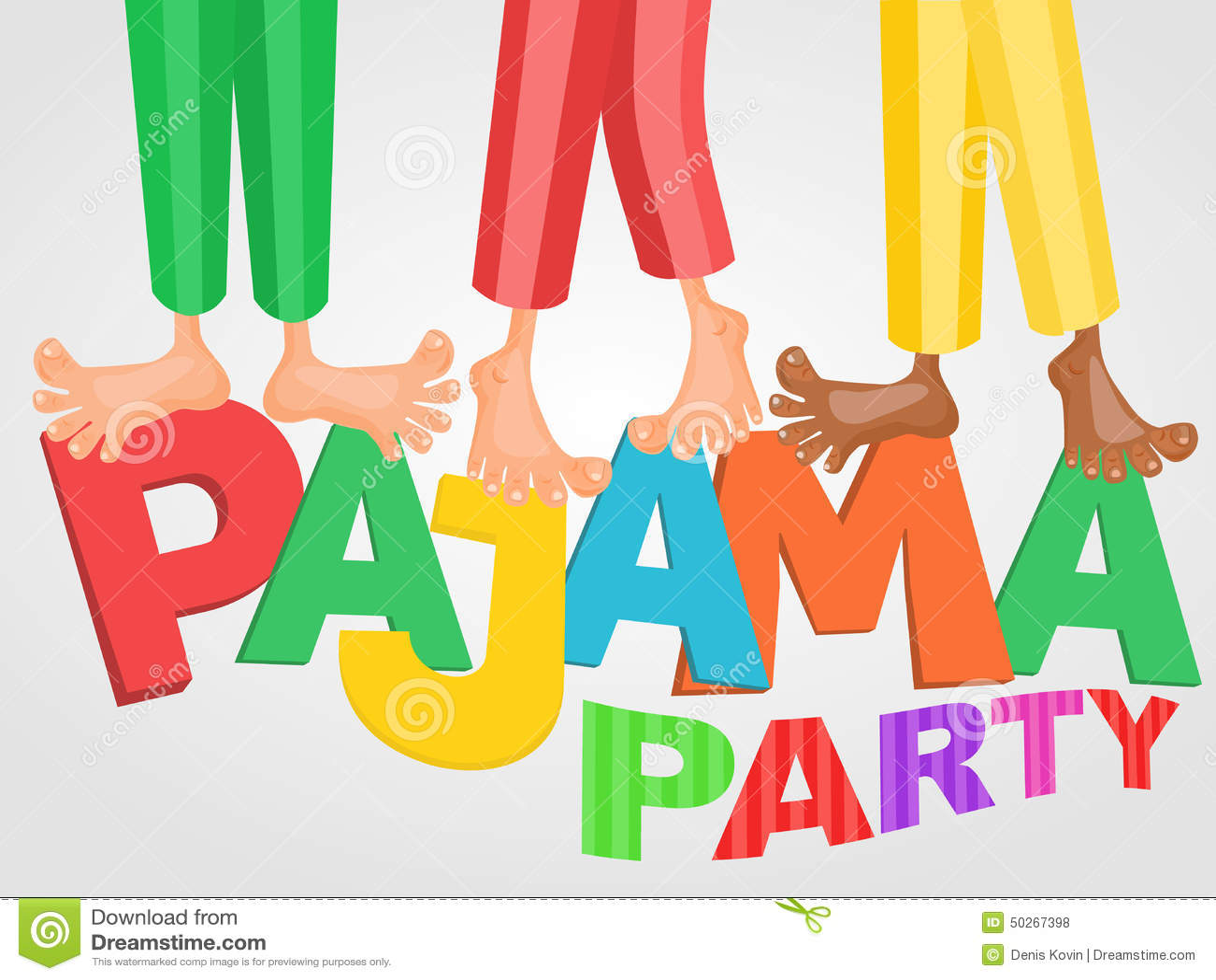 Illustration De Trois Garçons Ayant La Soirée Pyjamas De