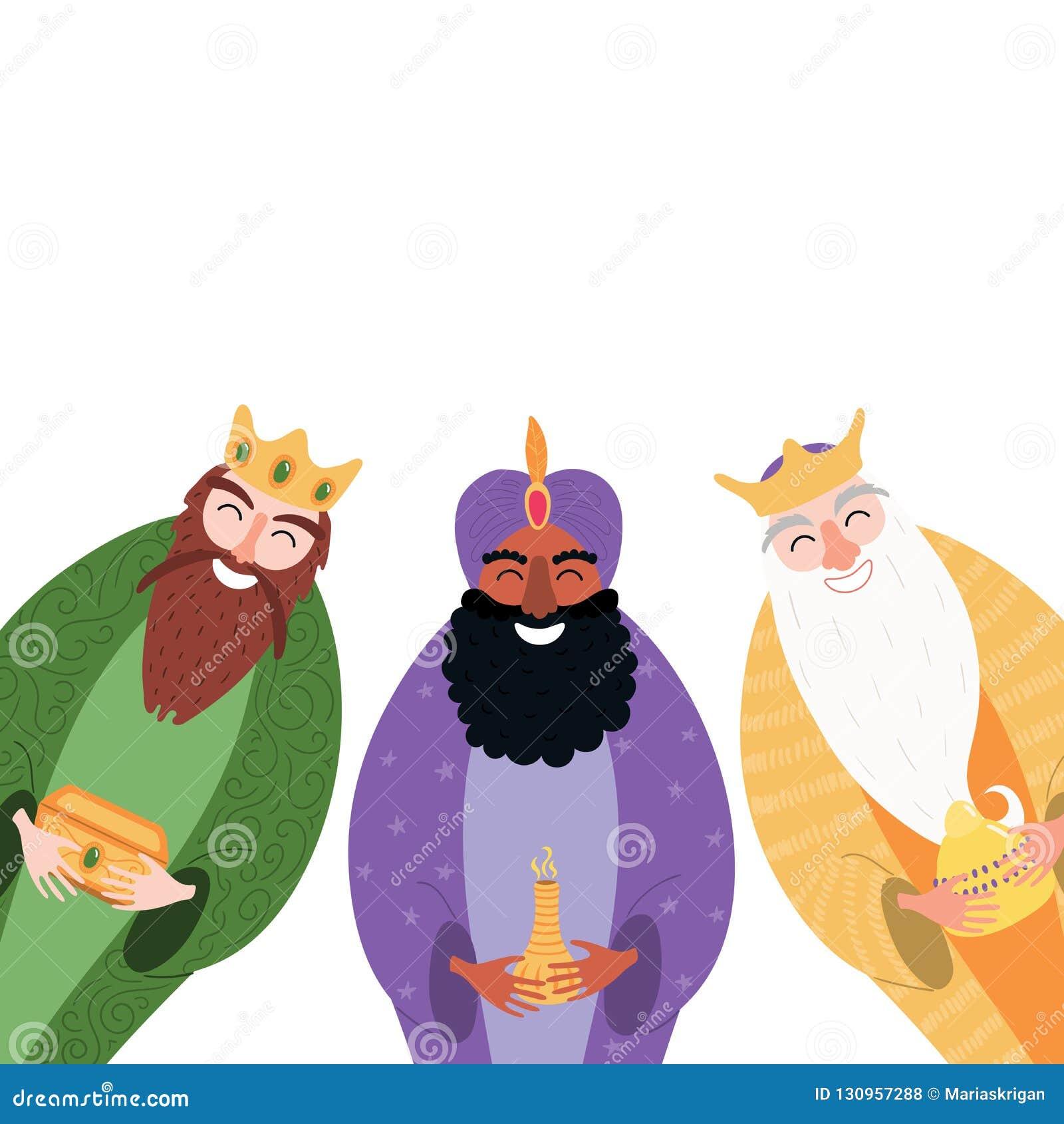 Illustration de trois rois