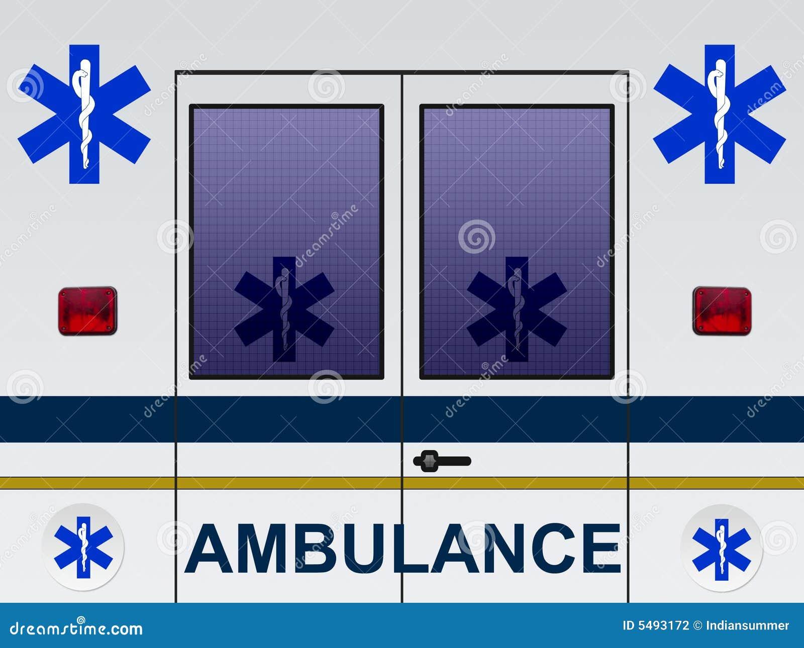 Illustration de véhicule d ambulance