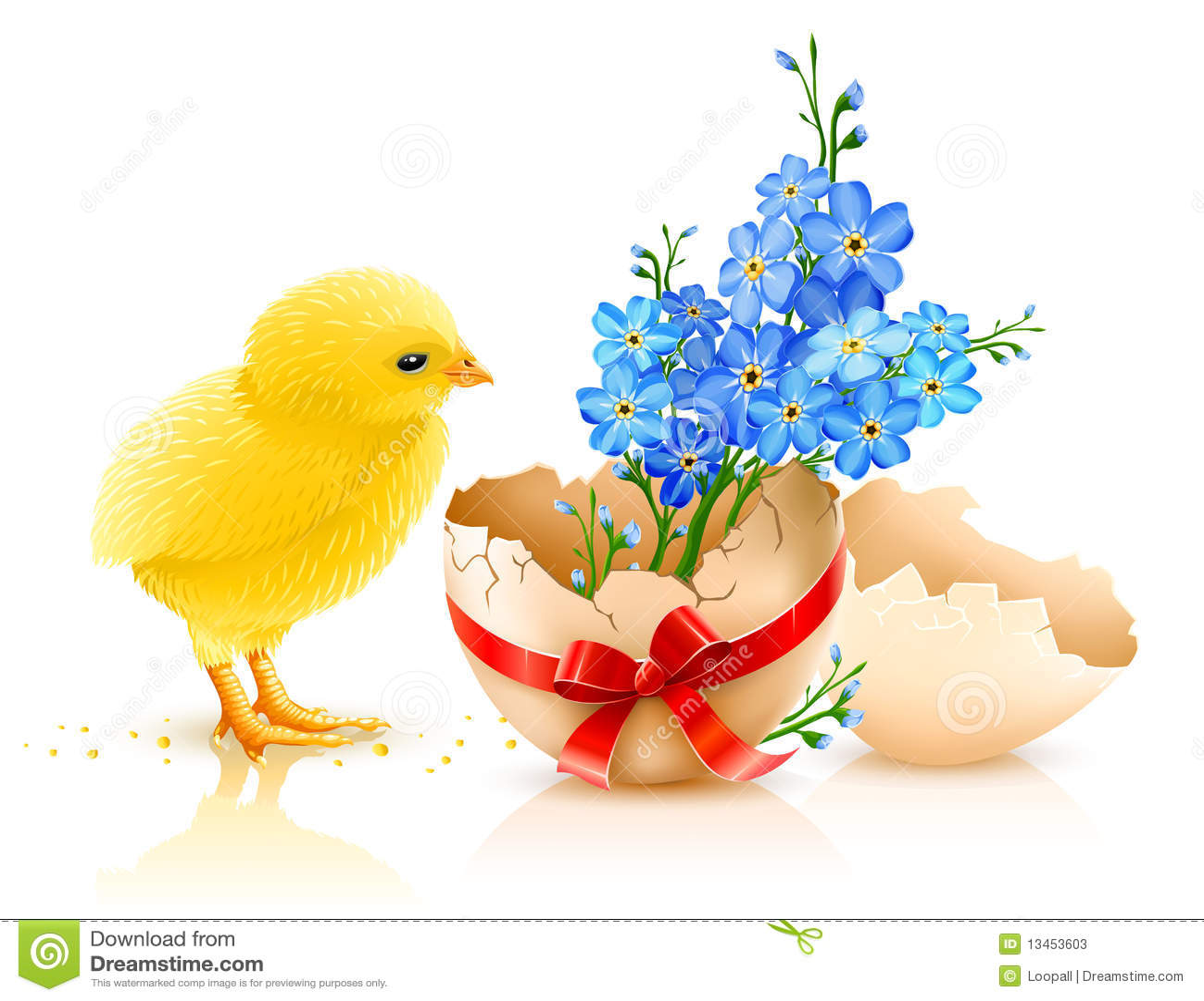 Illustration de vacances de Pâques avec le poulet