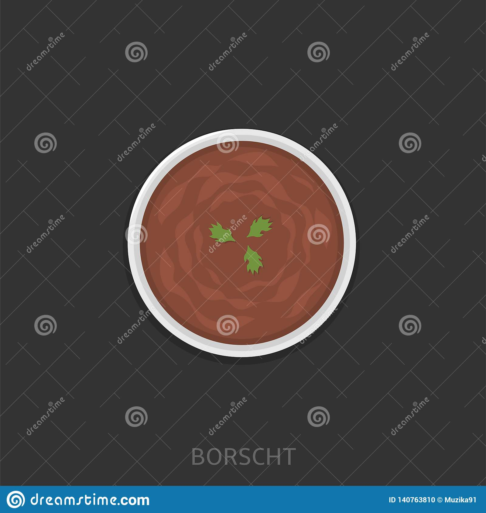 Illustration de vecteur de Borscht