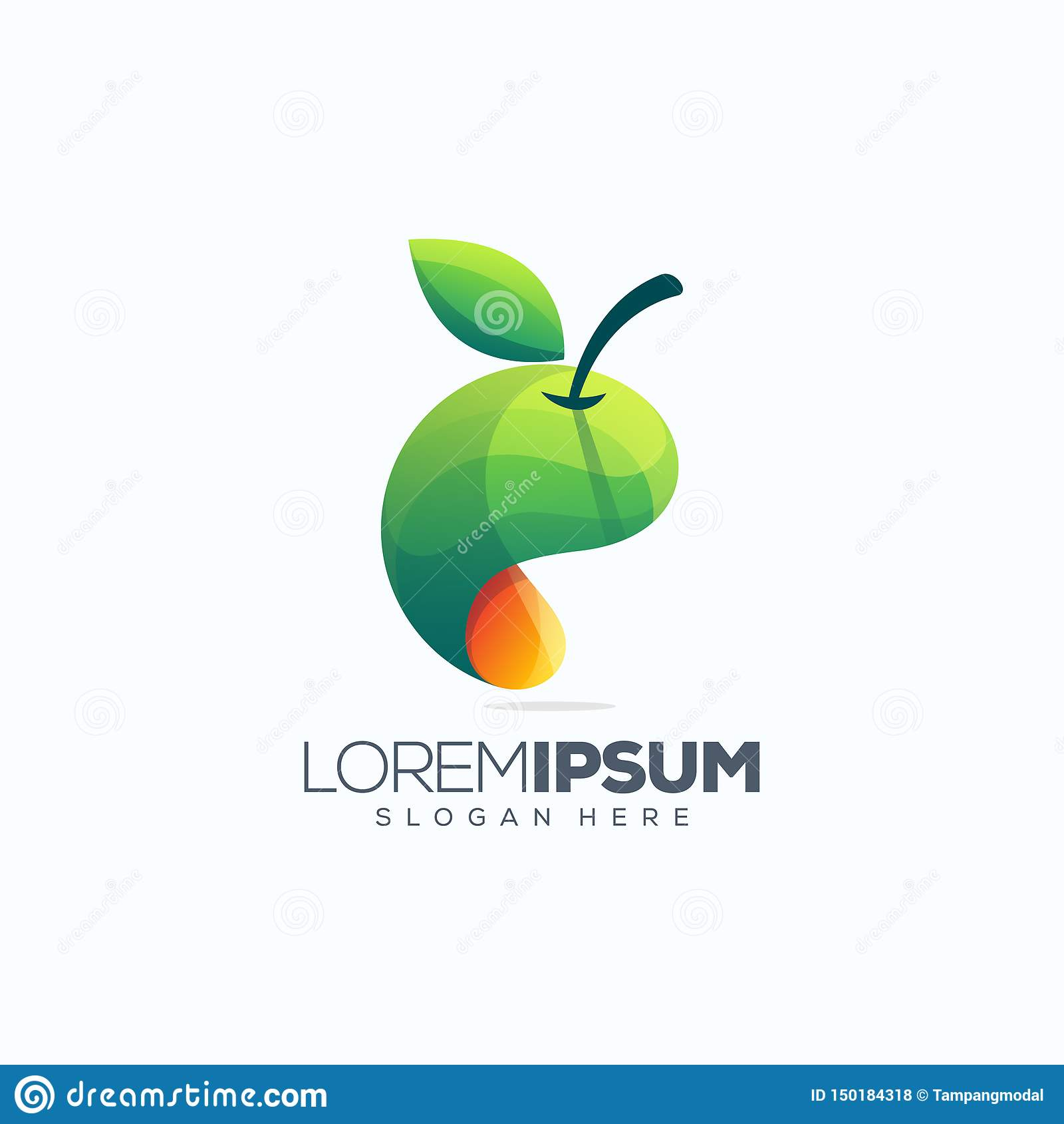Illustration de vecteur de conception de logo de fruit
