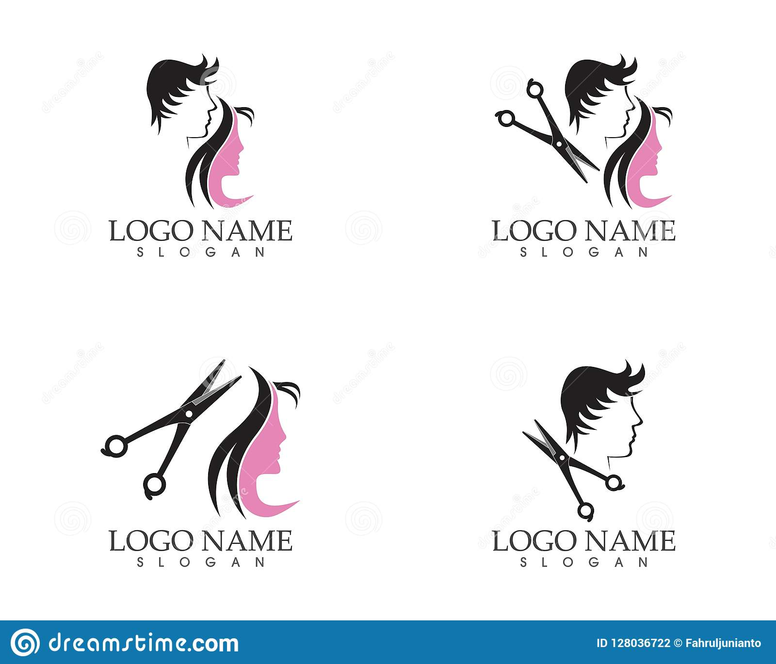 Illustration De Vecteur De Conception De Logo De Style De Coupe De Cheveux Illustration De Vecteur Illustration Du Coupe Conception 128036722
