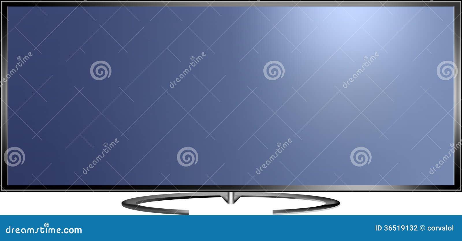 Illustration de vecteur d écran de la définition TV élevée