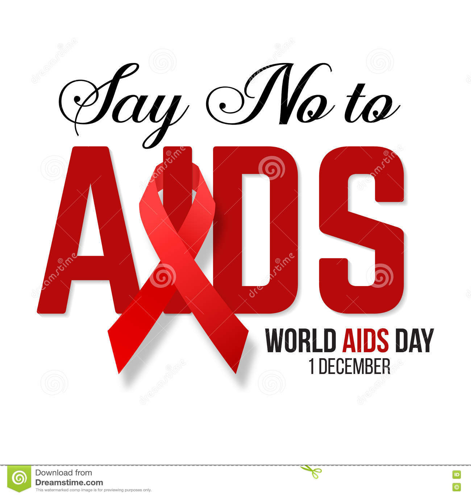 Illustration de vecteur d HIV, conscience d aides