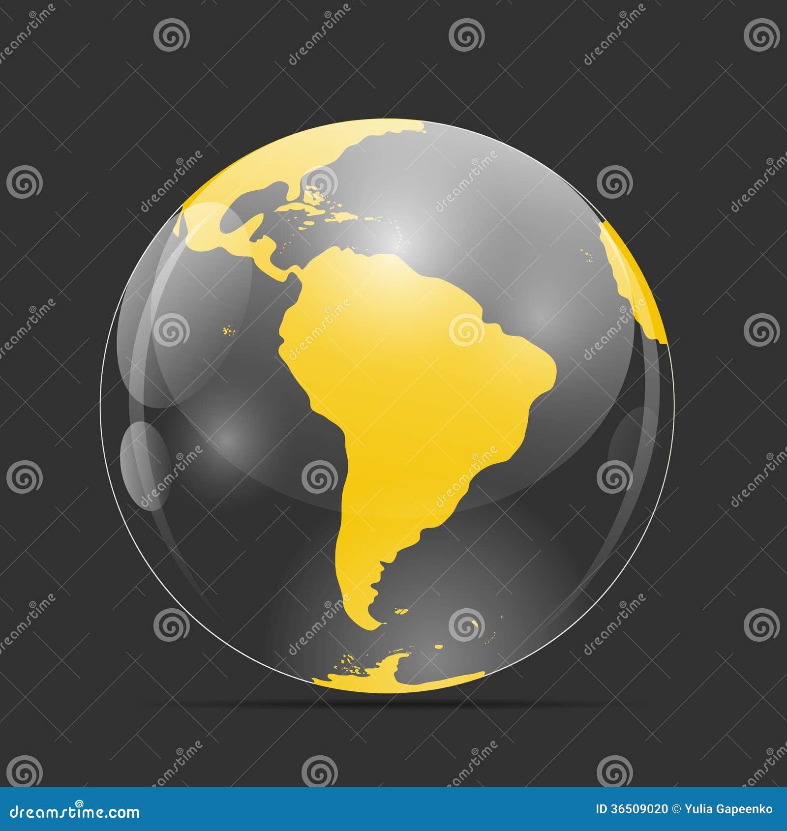 Illustration de vecteur d icône de globe