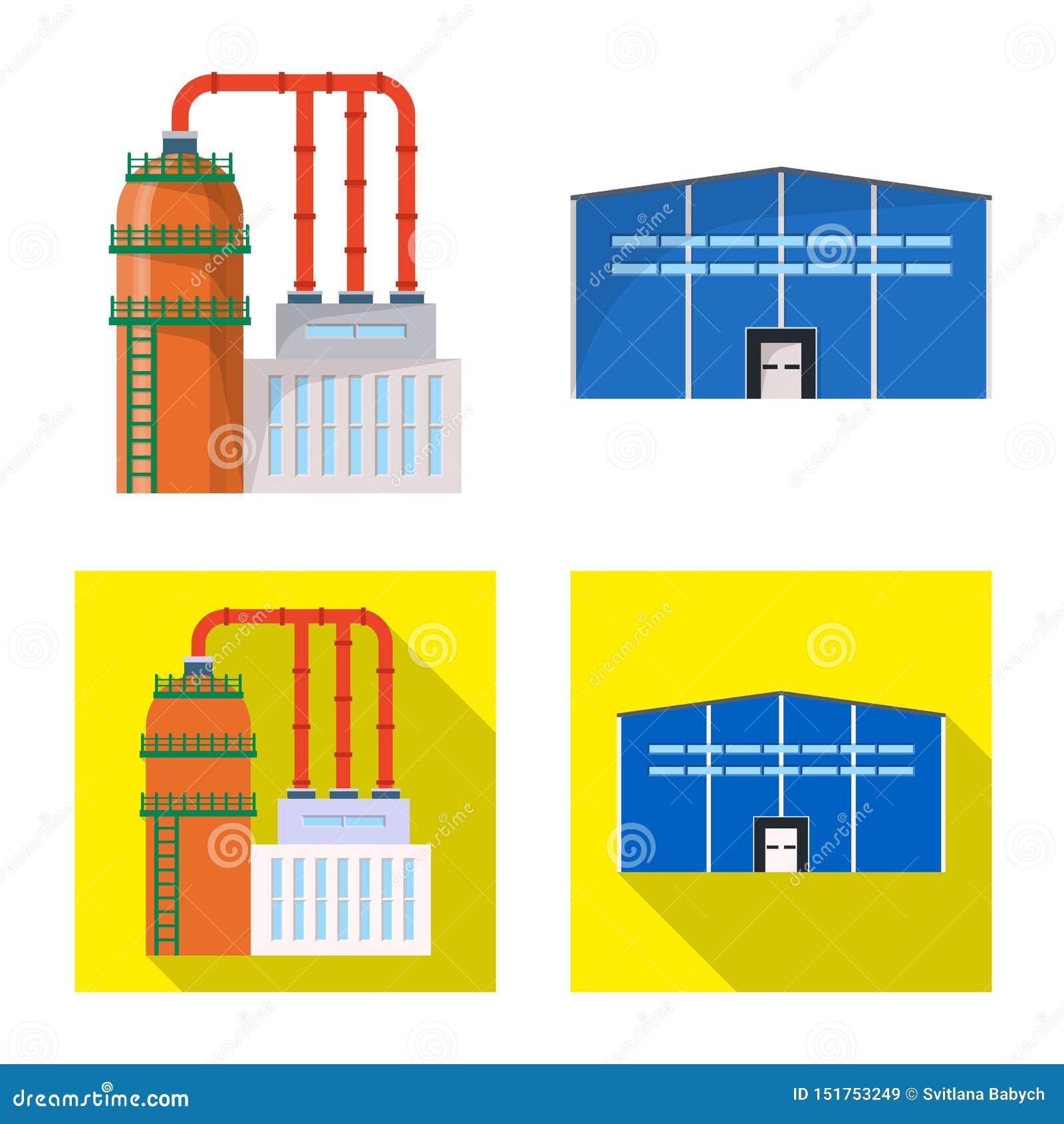 Illustration de vecteur d ic?ne de production et de structure Collection de symbole boursier de production et de technologie pour
