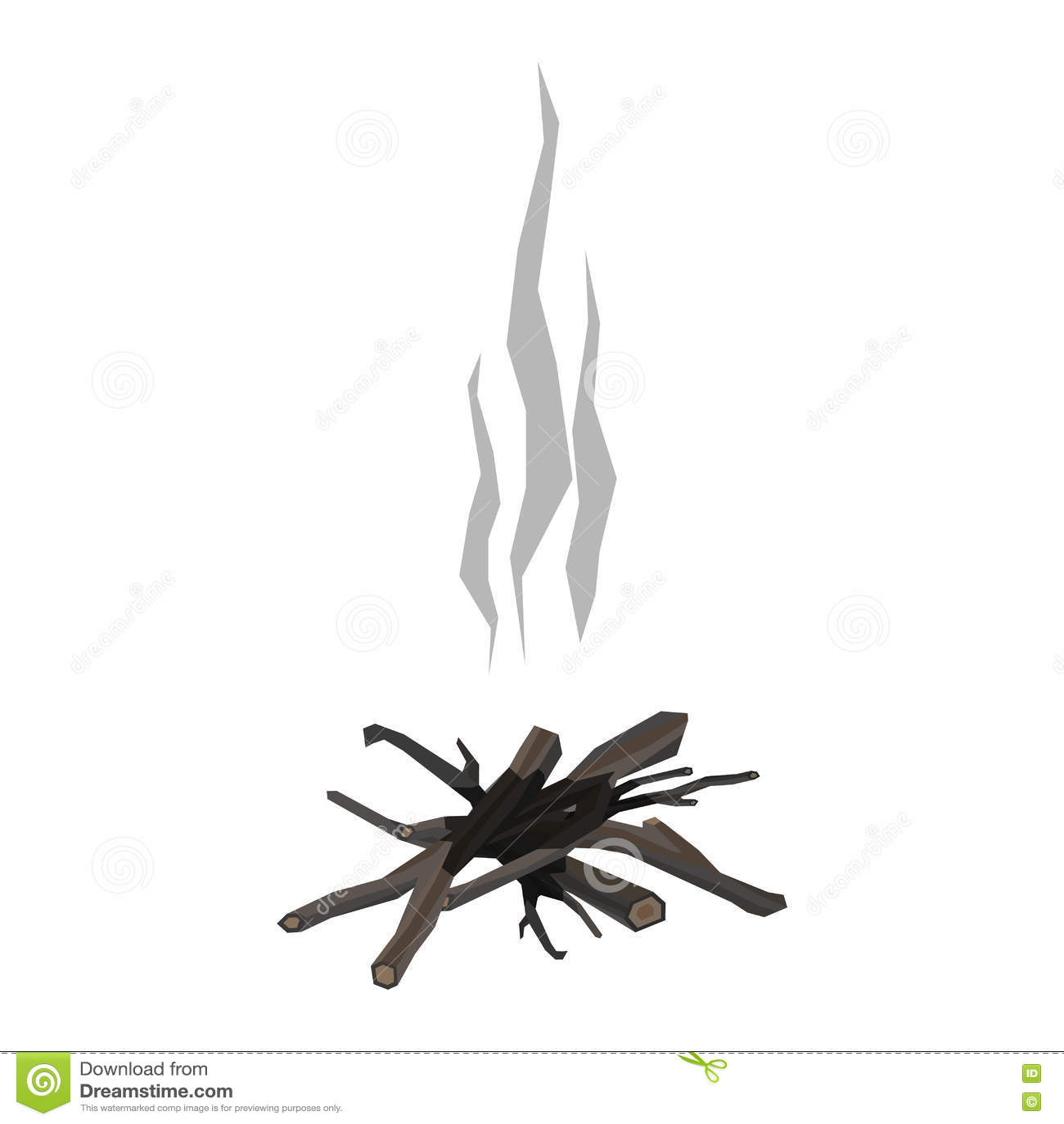 Illustration de vecteur d isolement par feux