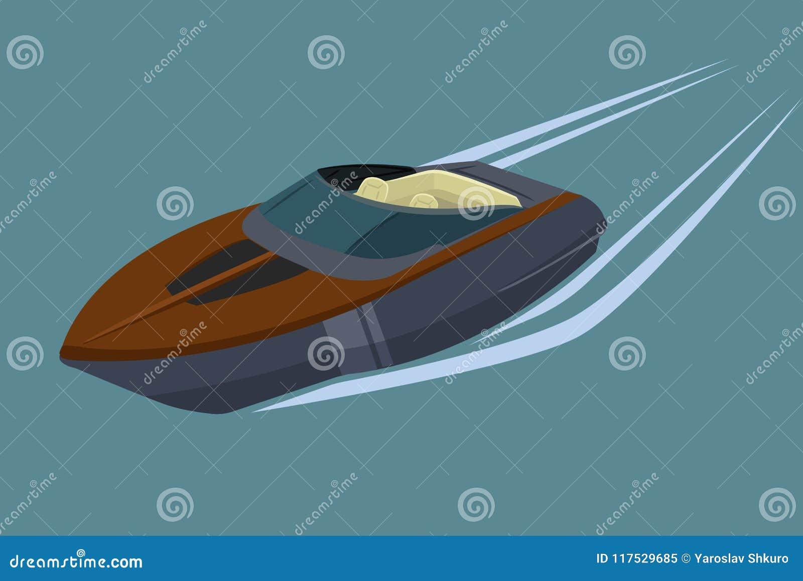 Illustration de vecteur d isolement par hors-bord Bateau de luxe et cher