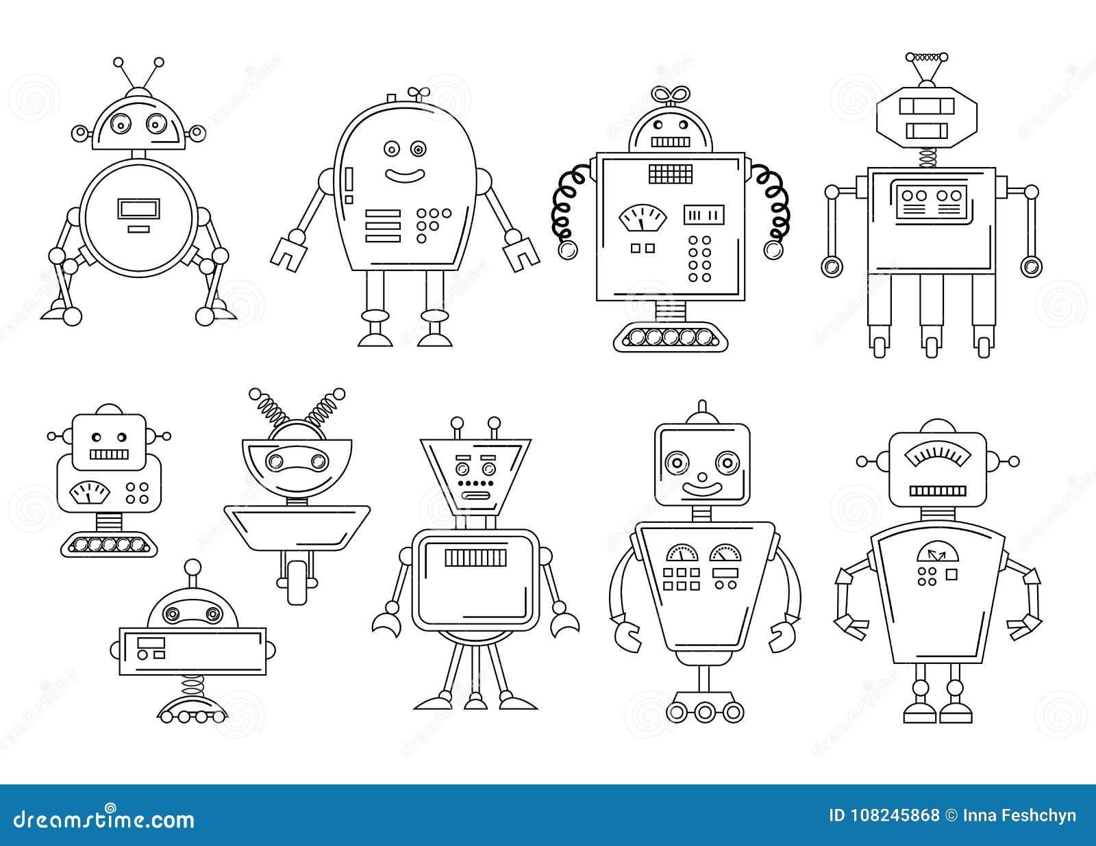 Illustration De Vecteur Dun Robot Conception De Personnages