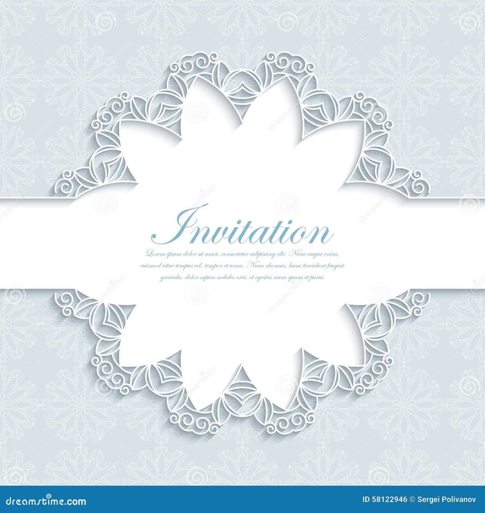 Illustration de vecteur d une invitation moderne de mariage