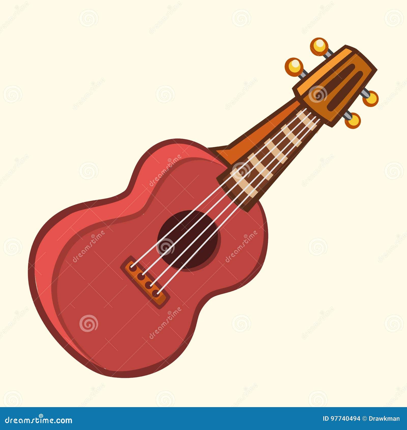 Guitare Clipart illustration de vecteur de bande dessinée de guitare acoustique ou d