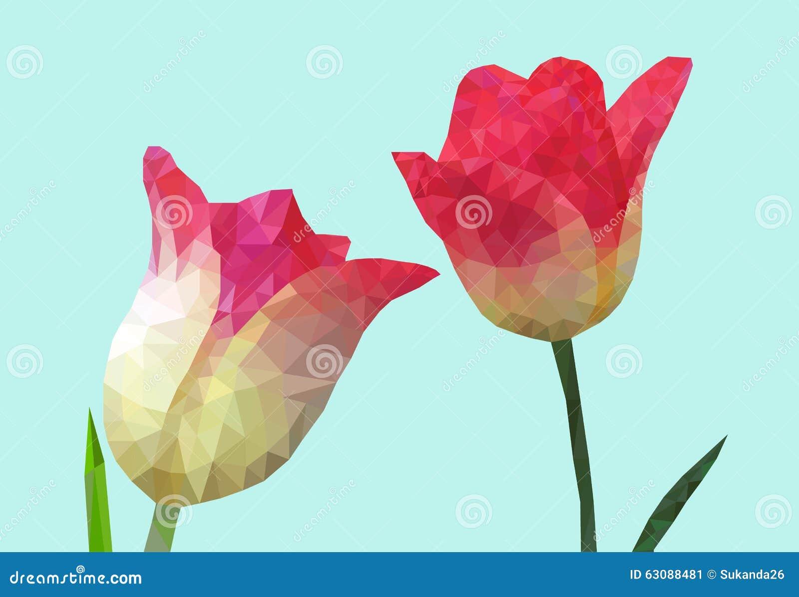 Download Illustration De Vecteur De Bas Poly Style De Tulipe Illustration de Vecteur - Illustration du créateur, abstrait: 63088481