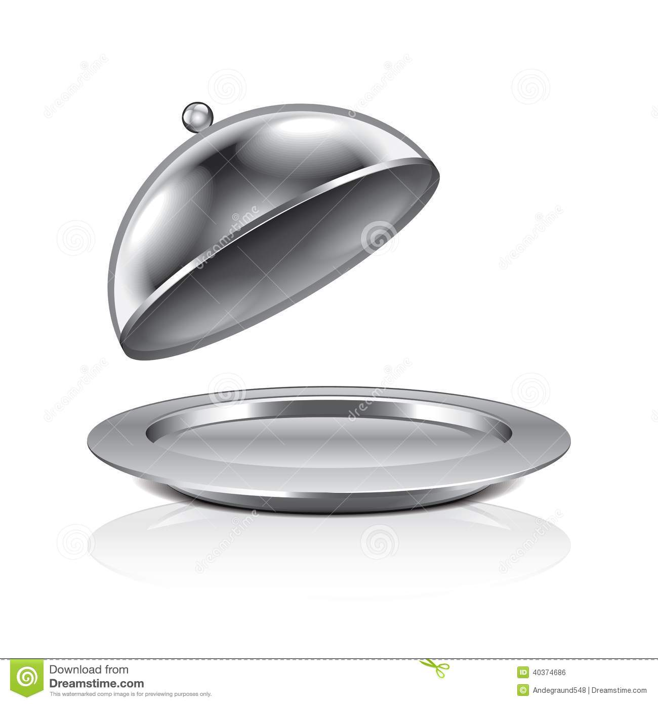 Illustration de vecteur de cloche de restaurant - Cloche de cuisine ...