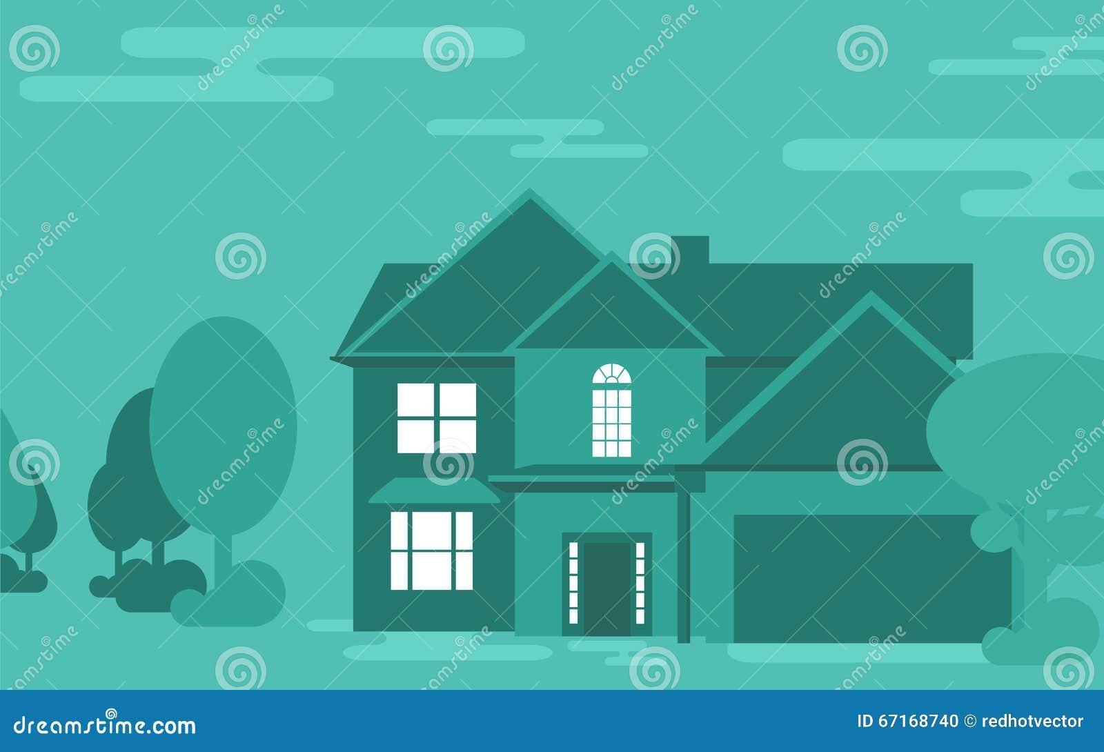 Illustration de vecteur de construction de logements de famille
