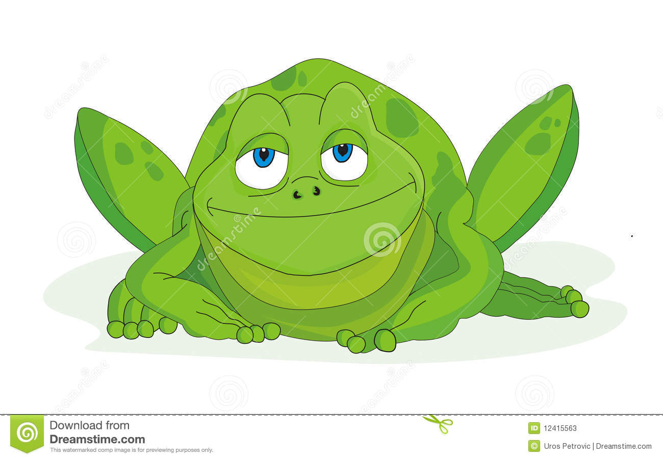Illustration de vecteur de dessin anim de grenouille photos stock image 12415563 - Dessin de grenouille marrante ...