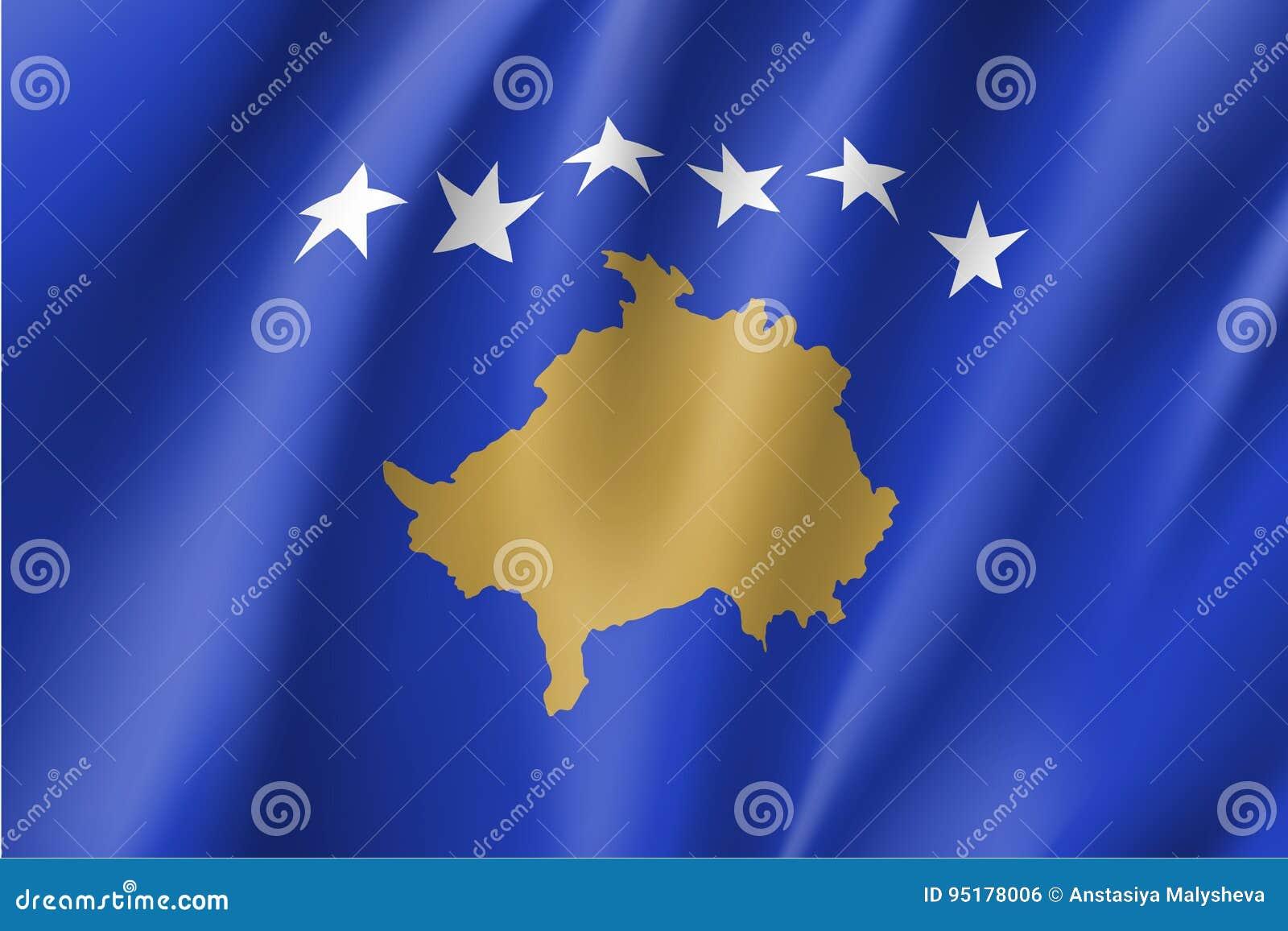 Illustration de vecteur de drapeau national de Kosovo