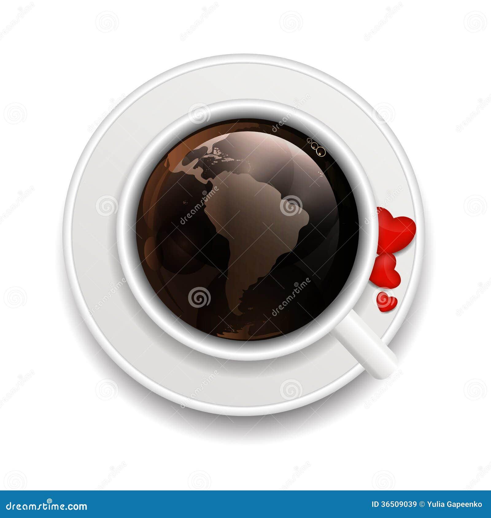 Illustration de vecteur de fond d invitation de café