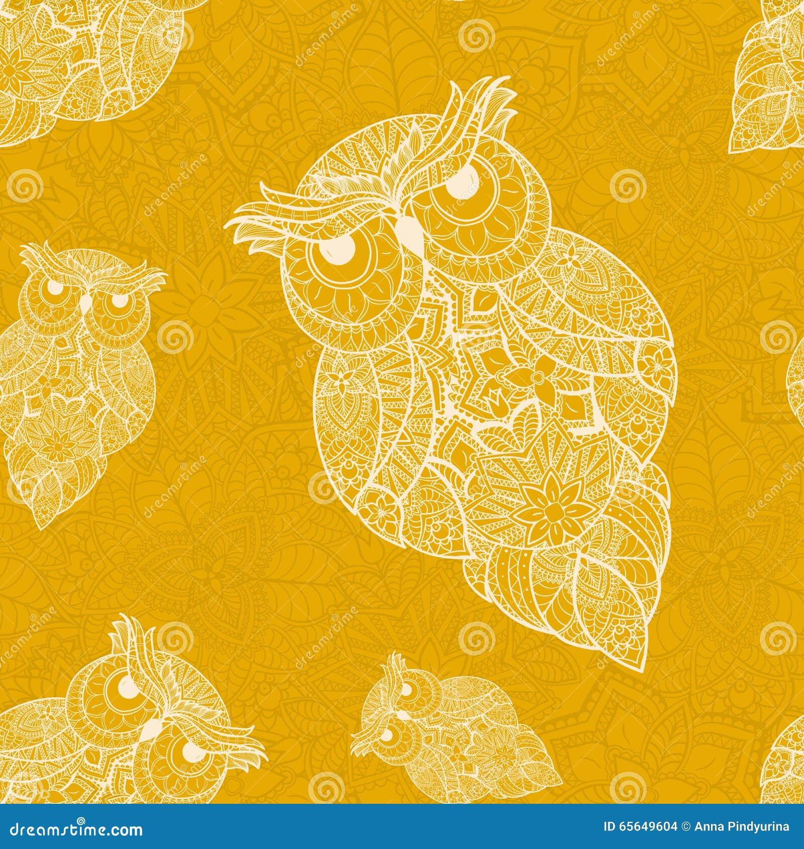 Illustration de vecteur de hibou ornemental Oiseau illustré dans le tribal