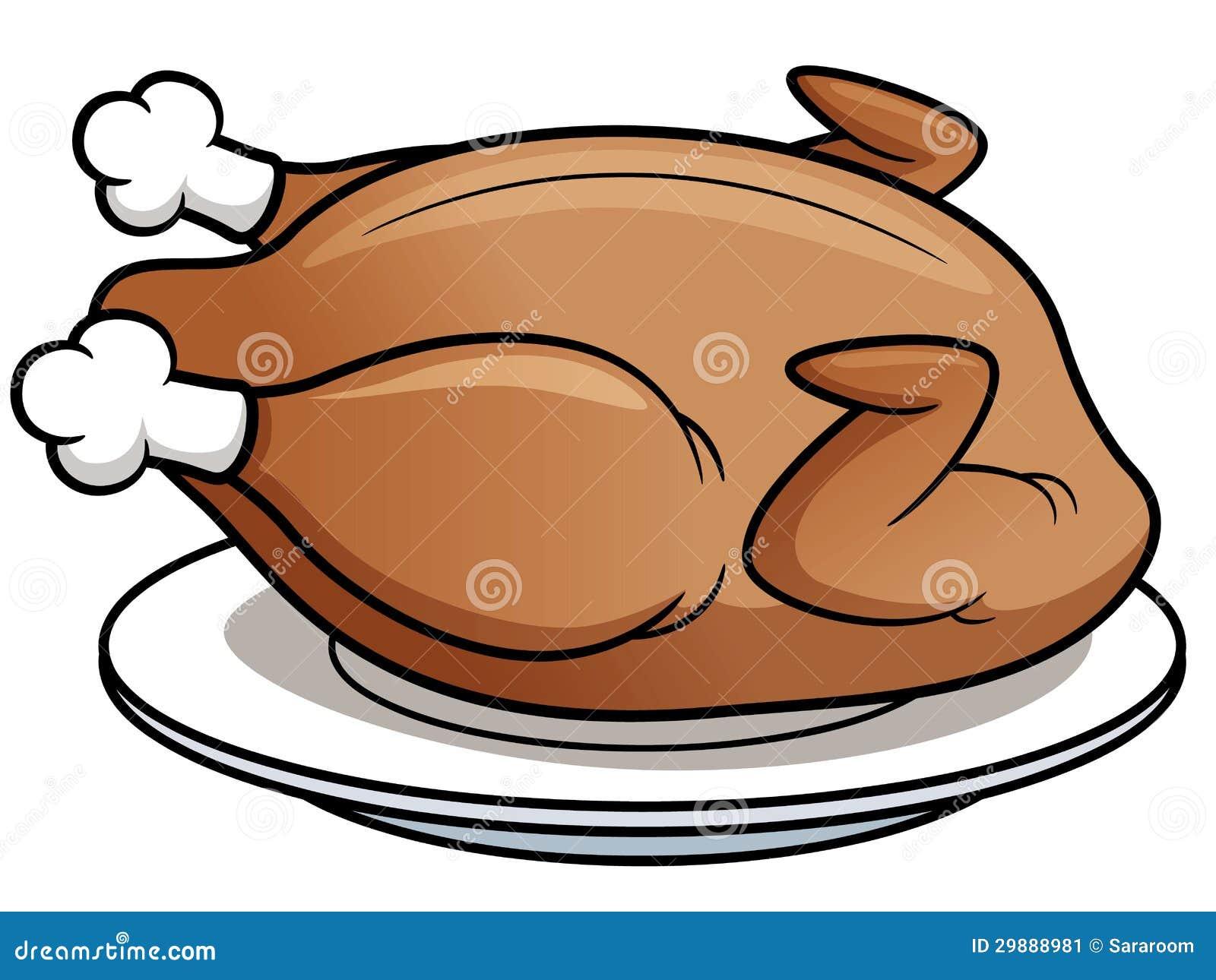 Poulet r ti illustration de vecteur illustration du repas 29888981 - Dessin de poulet roti ...