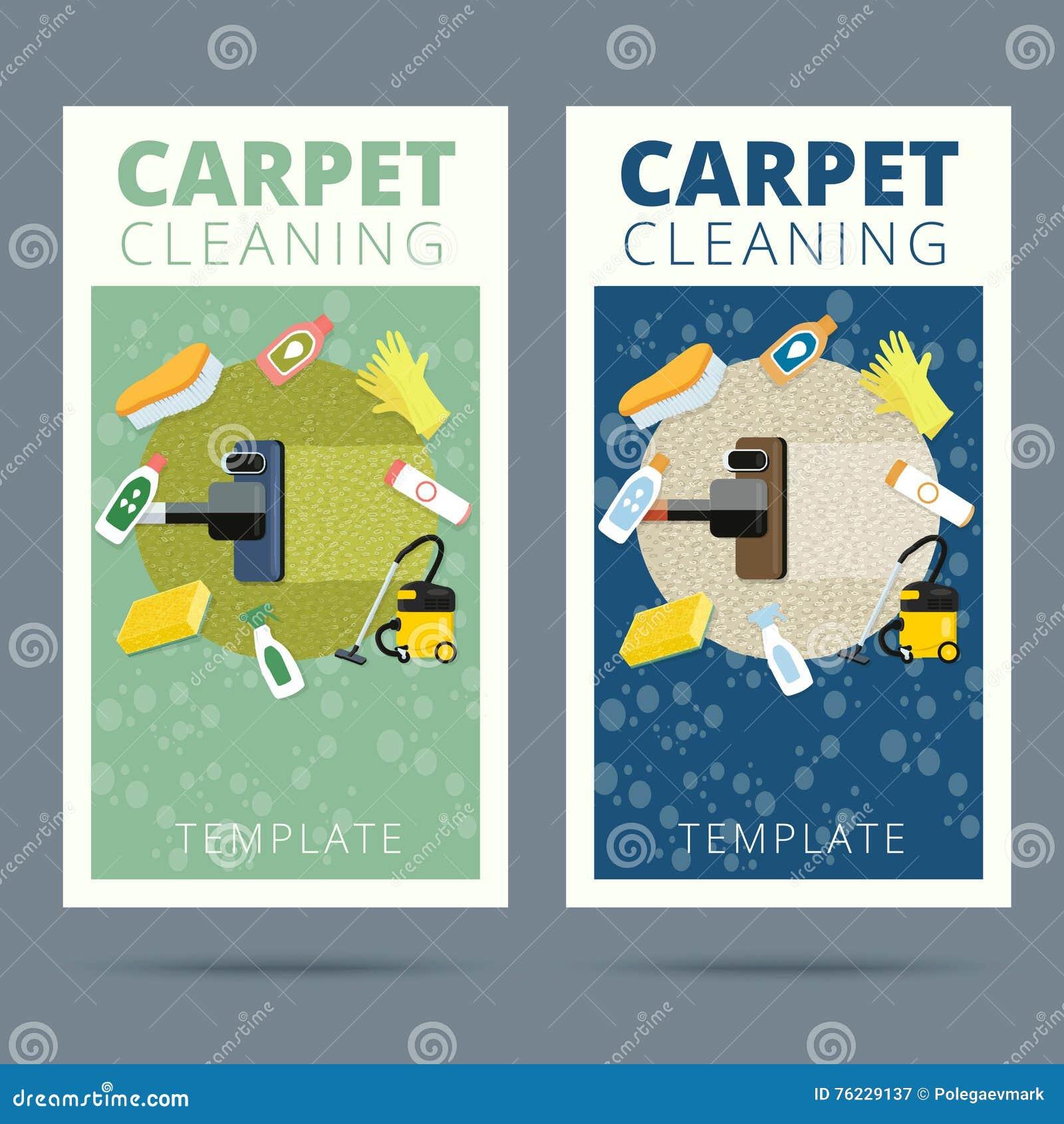 Illustration De Vecteur Service Nettoyage Tapis Conce Carte Visite Professionnelle