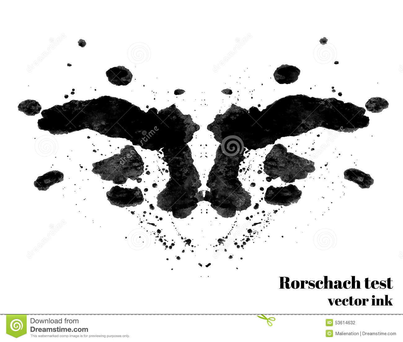 illustration de vecteur de tache d 39 encre d 39 essai de rorschach tache d 39 encre de silhouette de. Black Bedroom Furniture Sets. Home Design Ideas