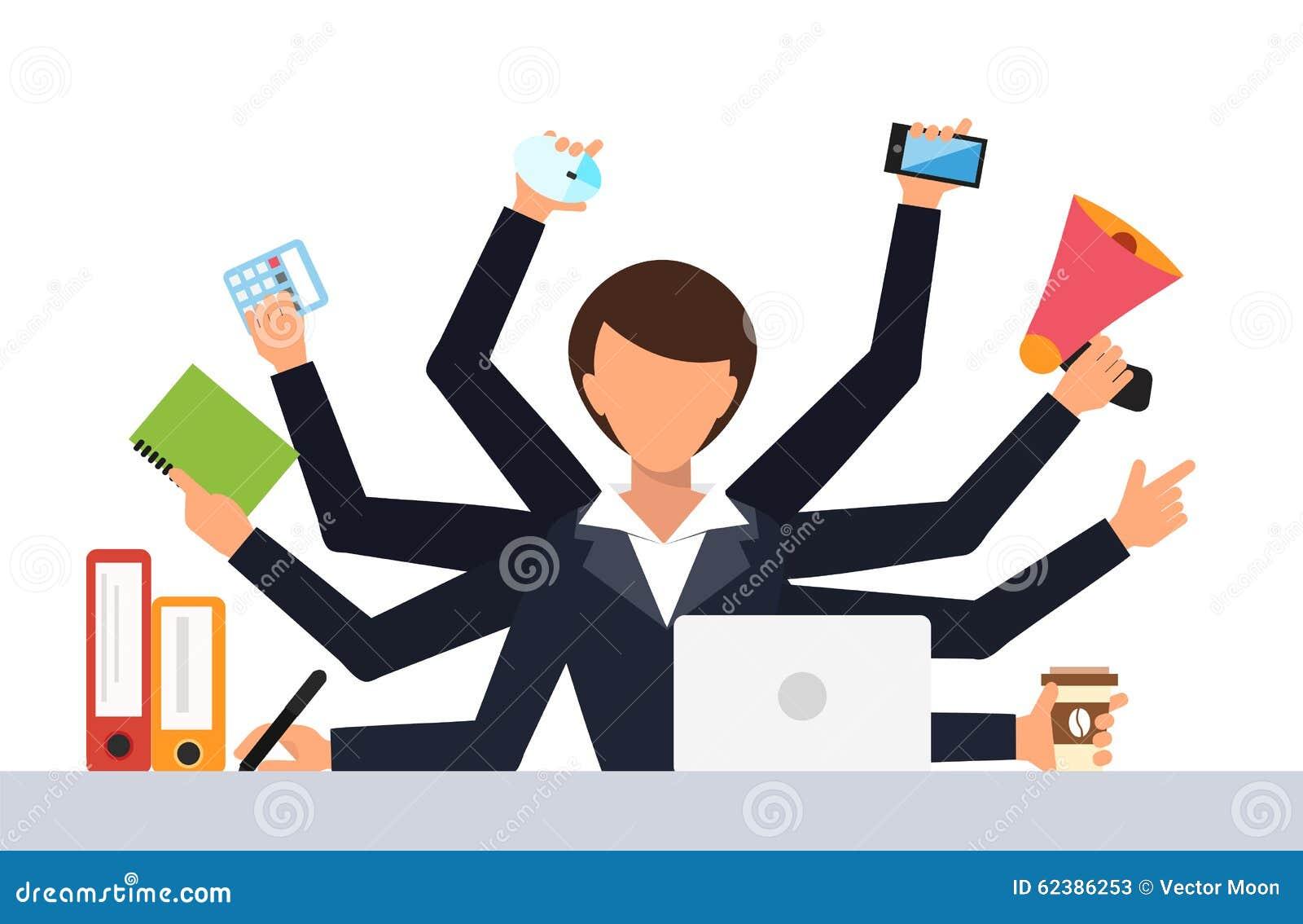 Illustration de vecteur de travail de stress du travail de bureau illustration de vecteur for Photos gratuites travail bureau